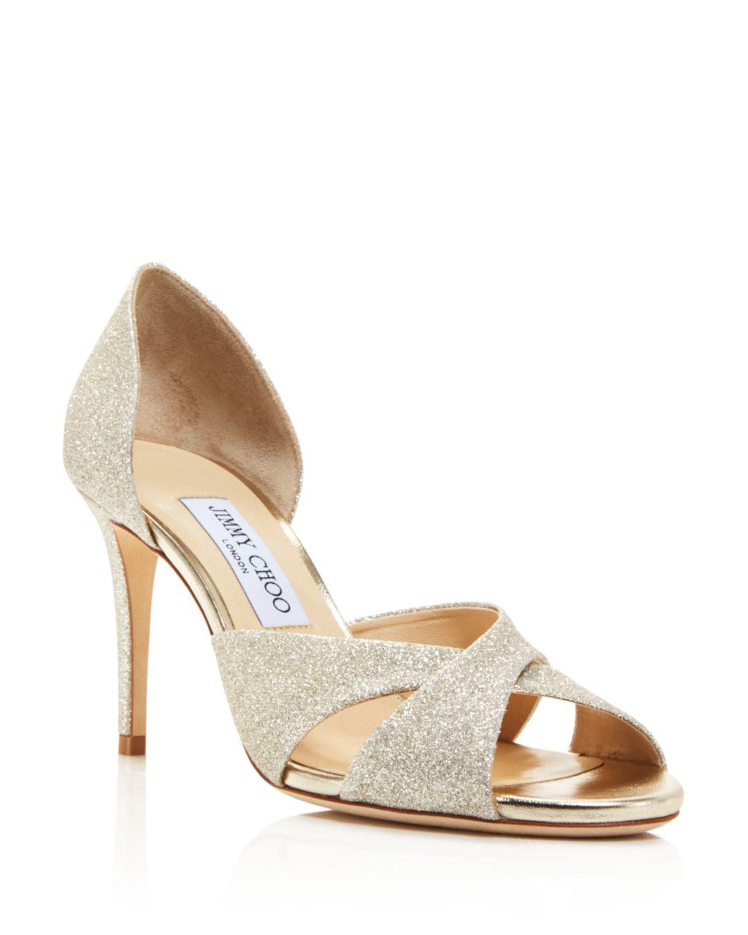 eb63b8045c2 Lyst - Jimmy Choo Women s Lara 85 Glitter D orsay High-heel Sandals ...