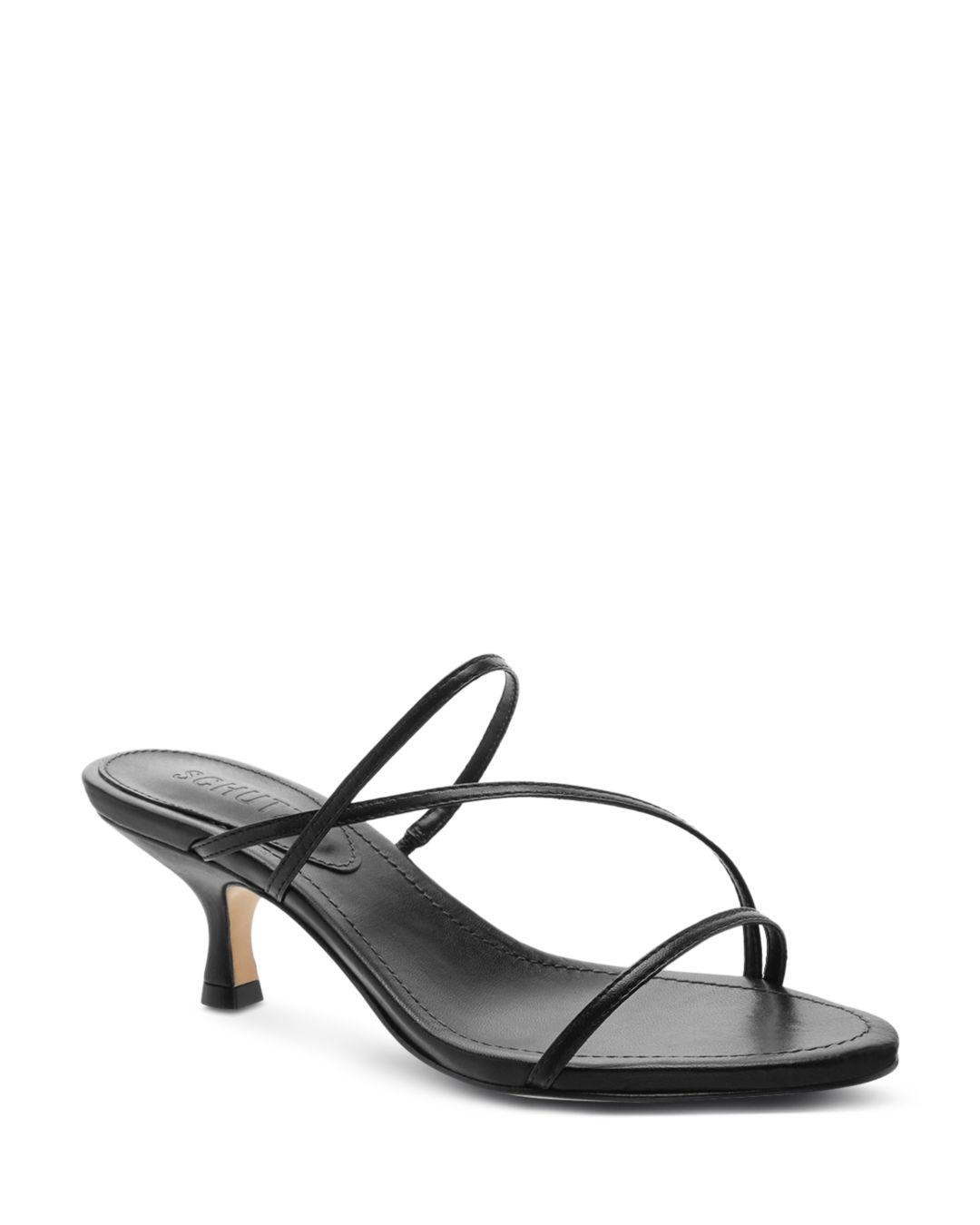 1ed8dbfe0d5 Schutz - Black Evenise Strappy Kitten-heel Leather Sandals - Lyst. View  fullscreen