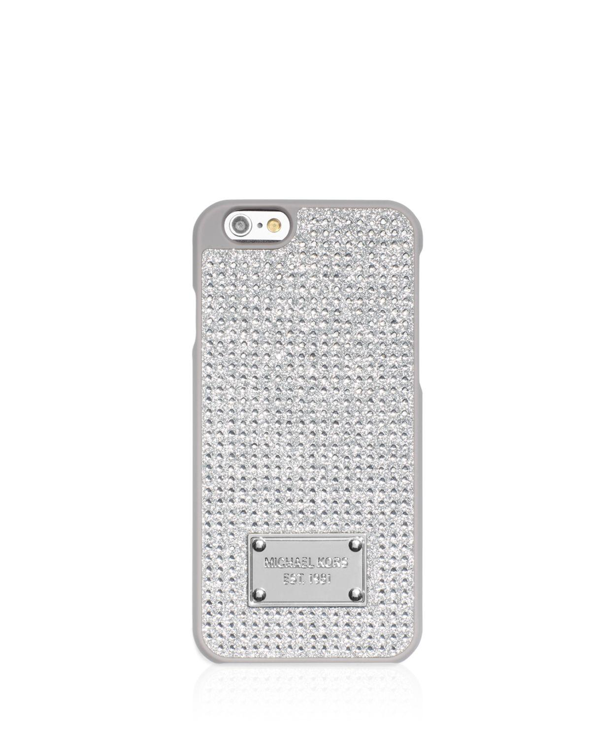 cac0aa9b15b4 Lyst - Michael Michael Kors Pave Iphone 6 6s Case in Metallic