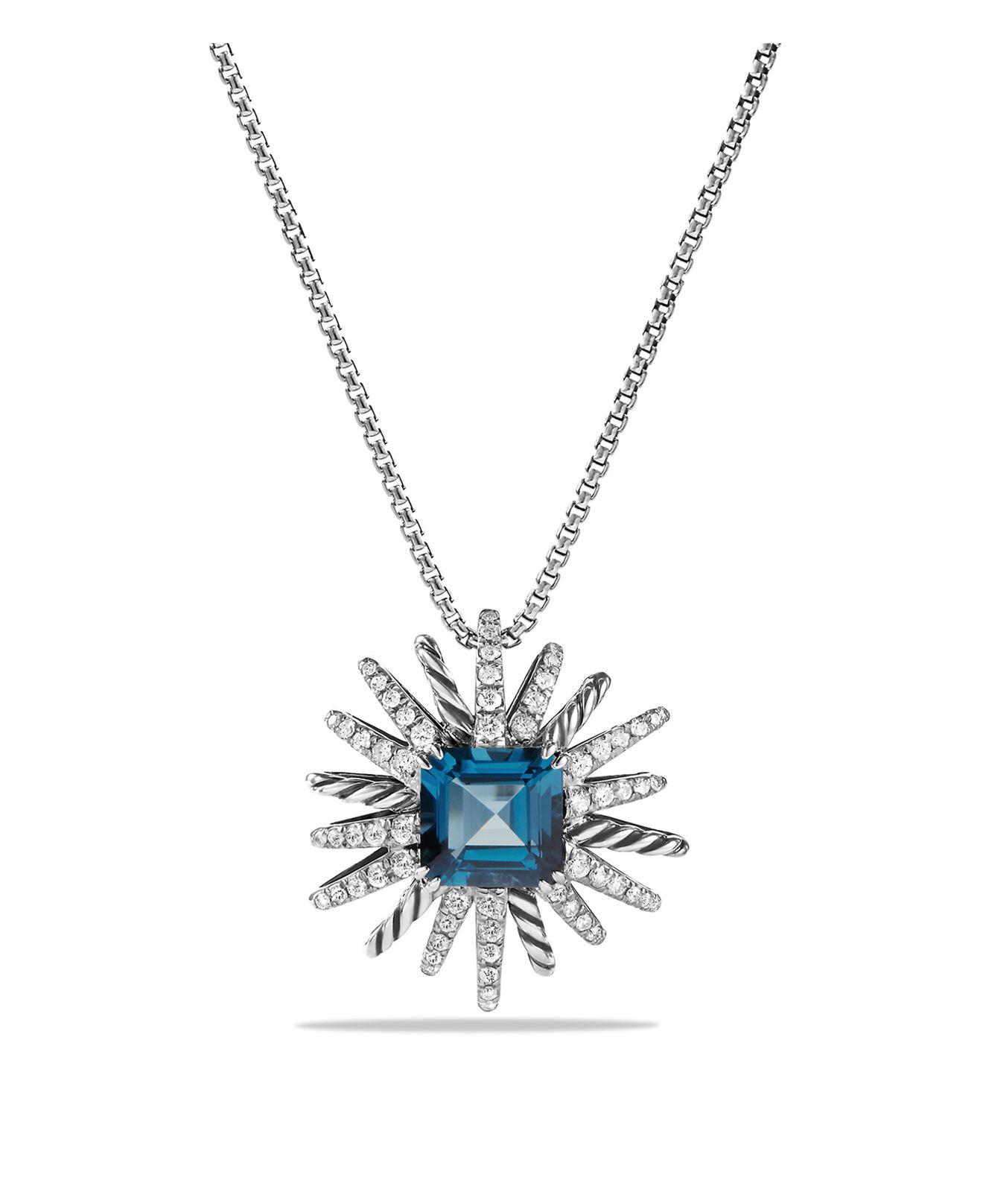 david yurman starburst necklace with diamonds and hton