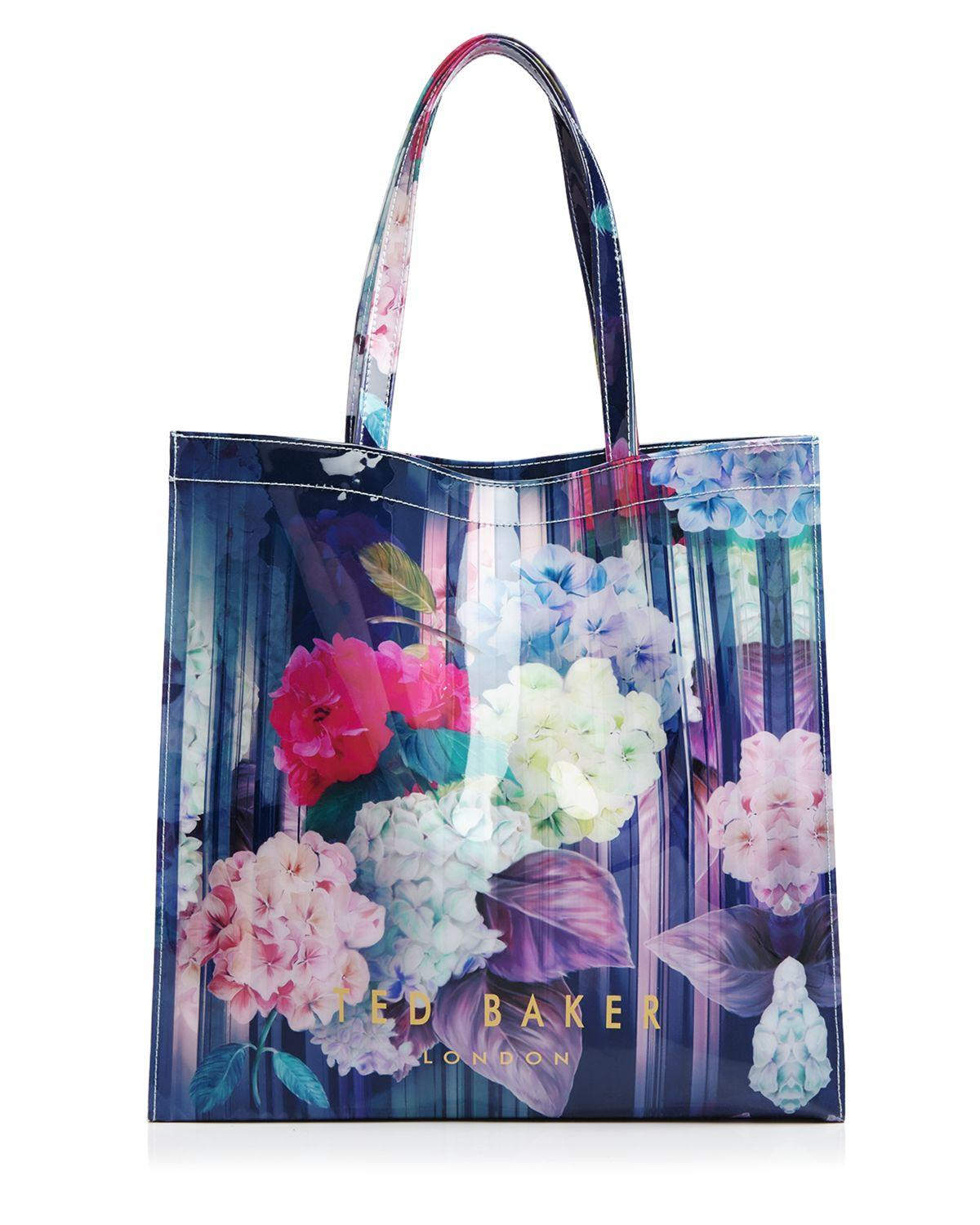 39bcc1147f7e8 Lyst - Ted Baker Hydrangea Haze Large Icon Tote in Blue