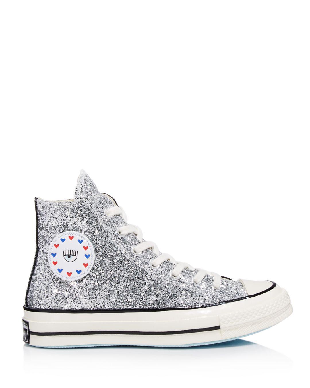 9d4a92beb1fe Converse X Chiara Ferragni Women s Chuck Taylor Glitter High Top Sneakers -  Lyst