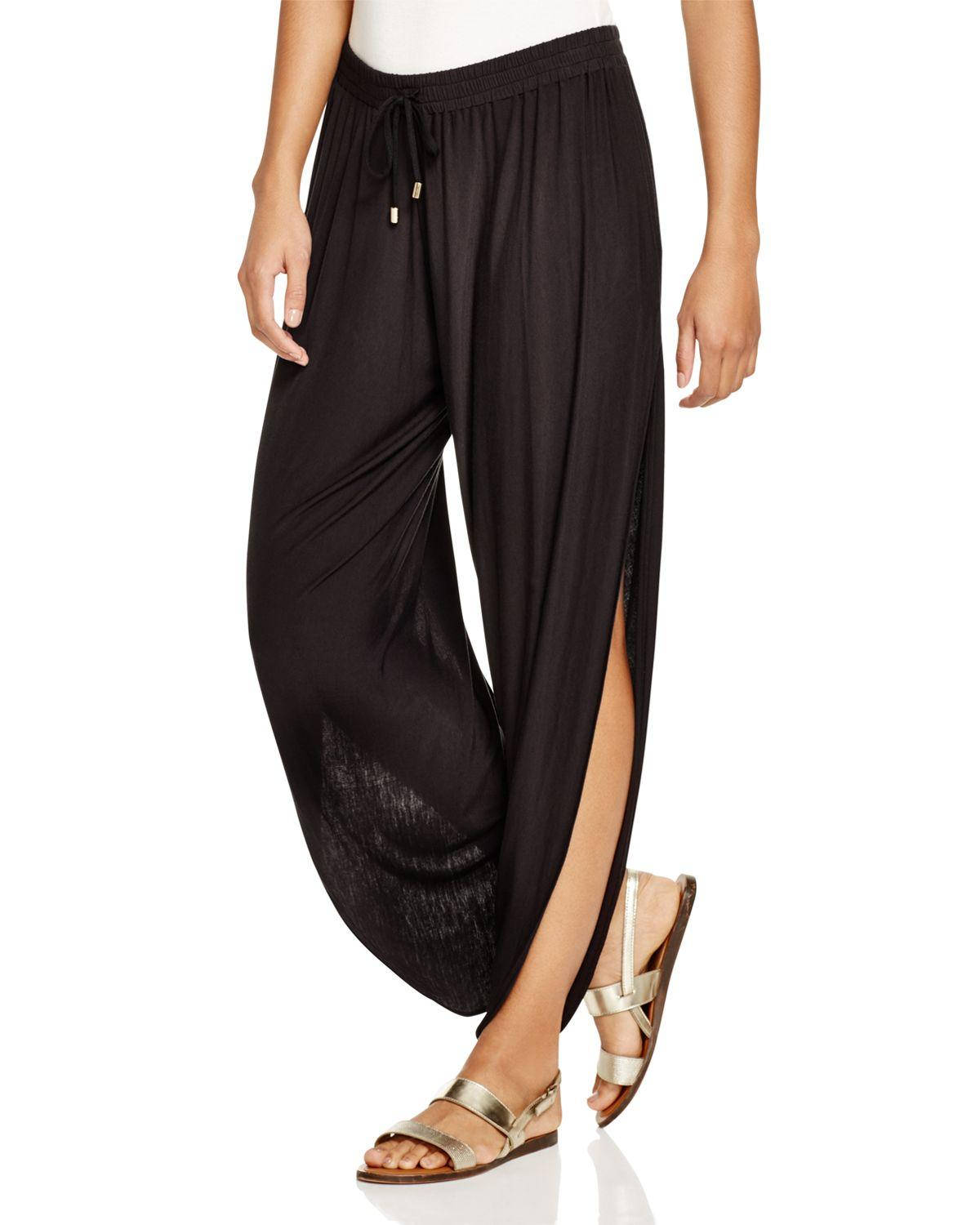 Book Cover Black Jeans : Laundry by shelli segal solid draped swim cover up pants