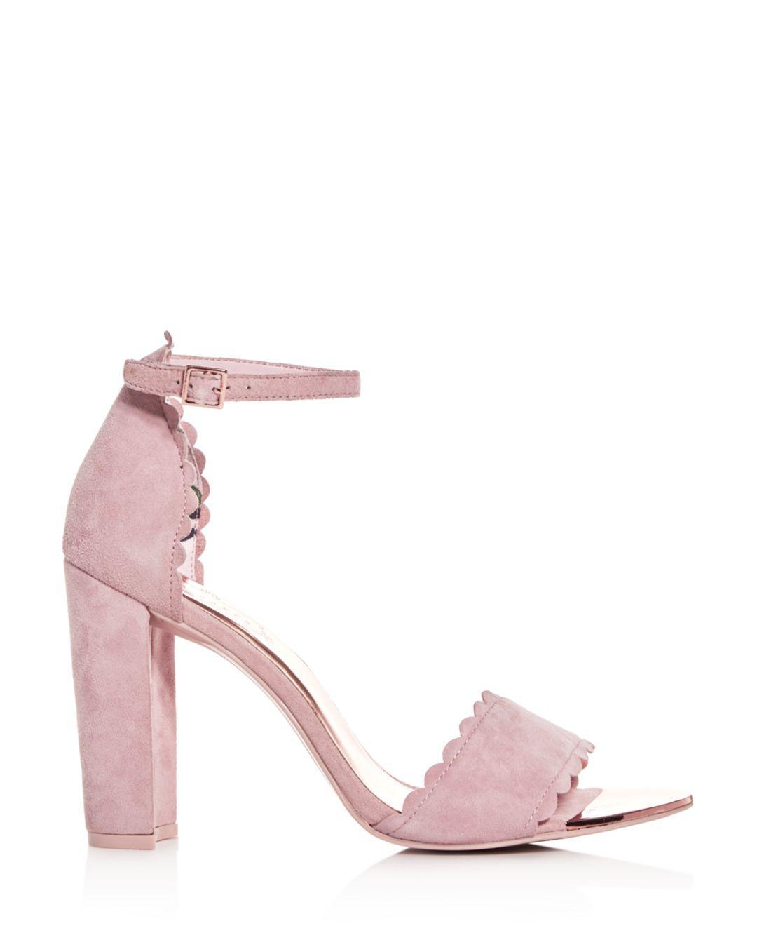 84f77fc95 Lyst - Ted Baker Women s Raidha Scalloped High Block-heel Sandals - Save 40%