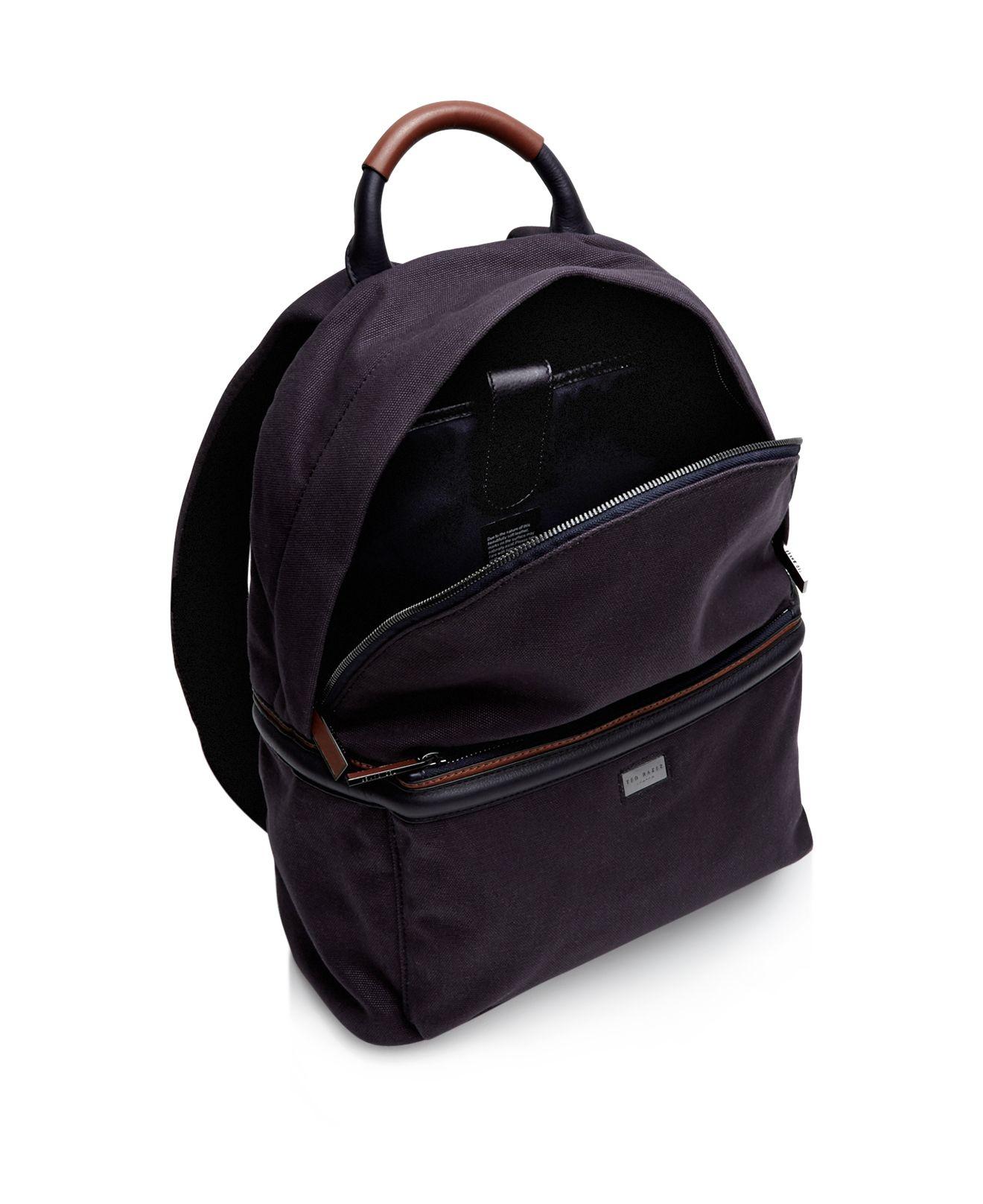 ted baker brandor backpack in black for men lyst. Black Bedroom Furniture Sets. Home Design Ideas