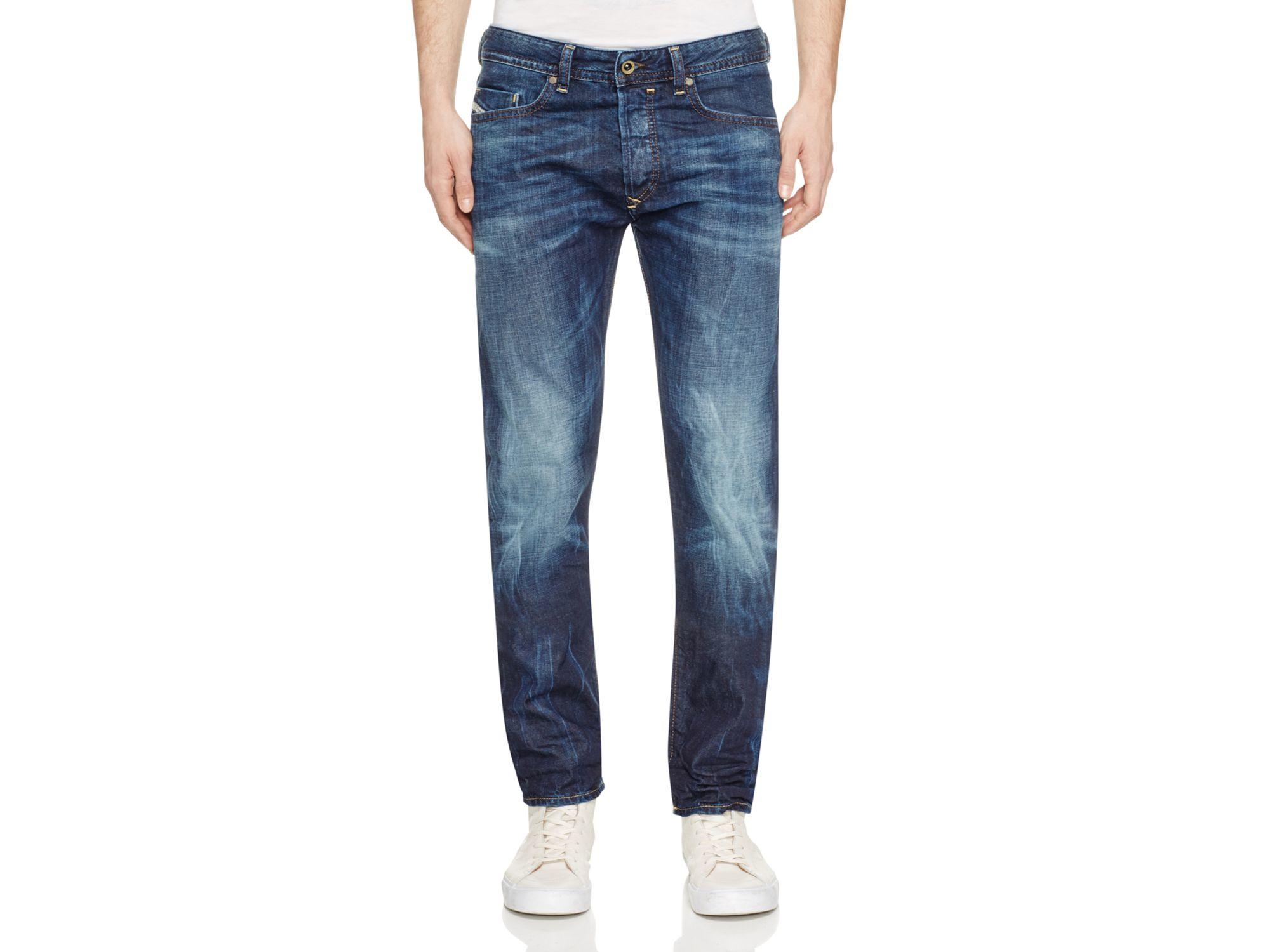 diesel buster new tapered fit jeans in denim in blue for men denim lyst. Black Bedroom Furniture Sets. Home Design Ideas