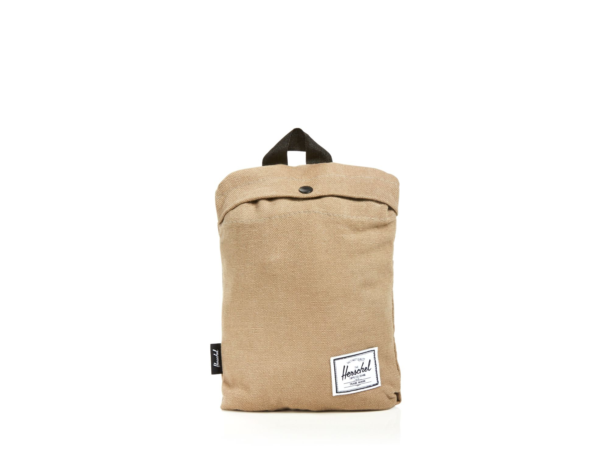 herschel supply co packable daypack in beige for men lead green lyst. Black Bedroom Furniture Sets. Home Design Ideas