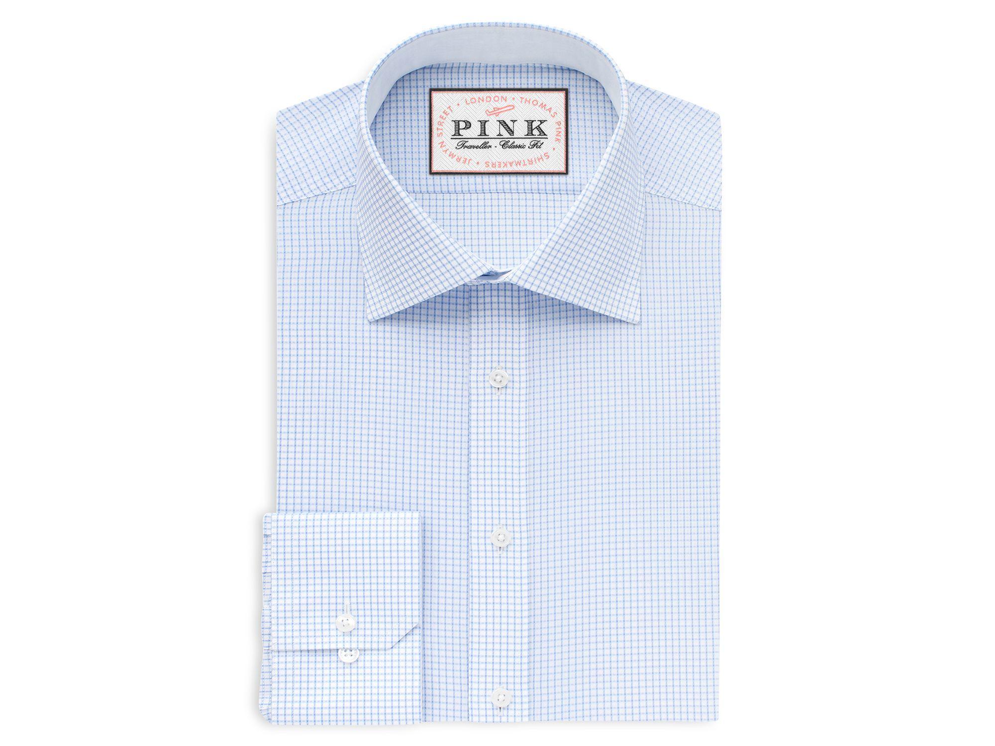 thomas pink finch check traveller dress shirt