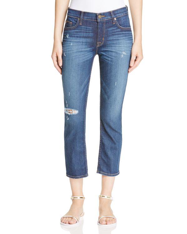 207c0a3e14c Lyst - Hudson Jeans Fallon Crop Jeans In Offshore in Blue