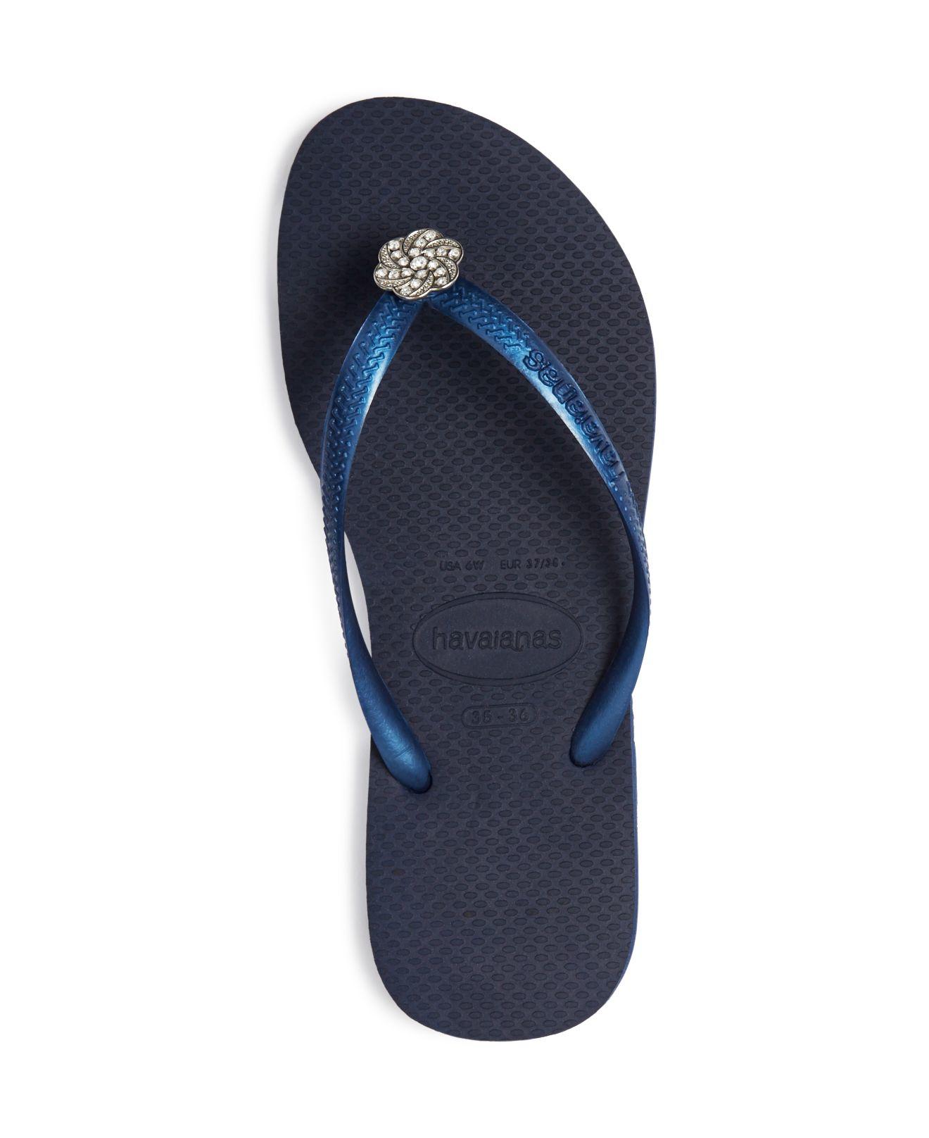 Havaianas Crystal Poem Swarovski Crystal Slim Flip Flops ...