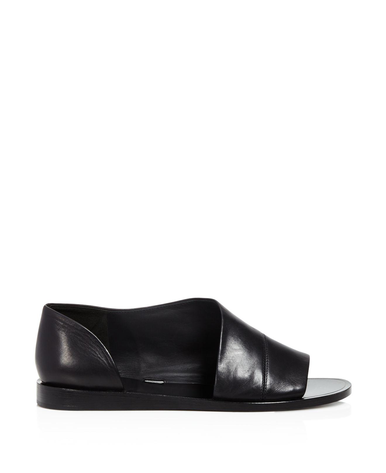 Vince Tabitha Asymmetrical Open Toe Flats In Natural Lyst