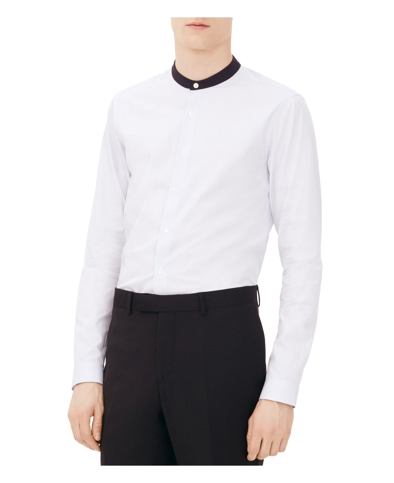 Sandro Symphony Slim Fit Button Down Shirt In White For