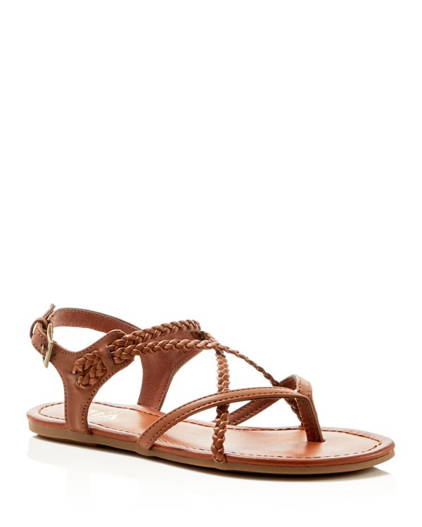 Mia Adrianna Flat Sandals Compare At 39 In Brown Lyst