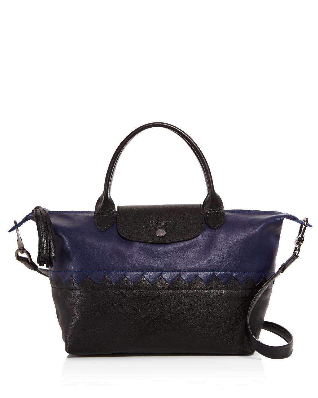 Lyst - Longchamp Le Pliage Cody Satchel - 100% Exclusive in Blue a0a14c8c2c08f