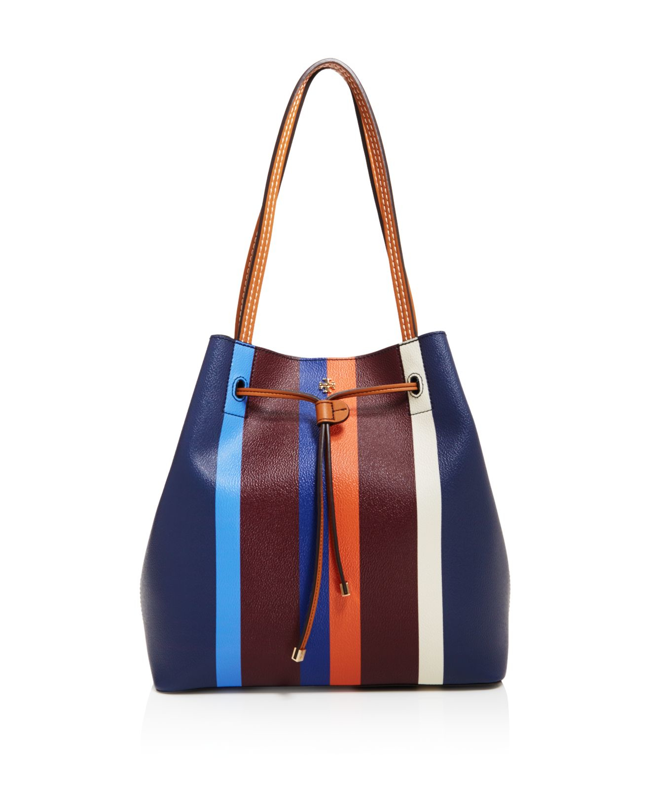 64120fc1fd4 Lyst - Tory Burch Kerrington Stripe Bucket Bag in Blue