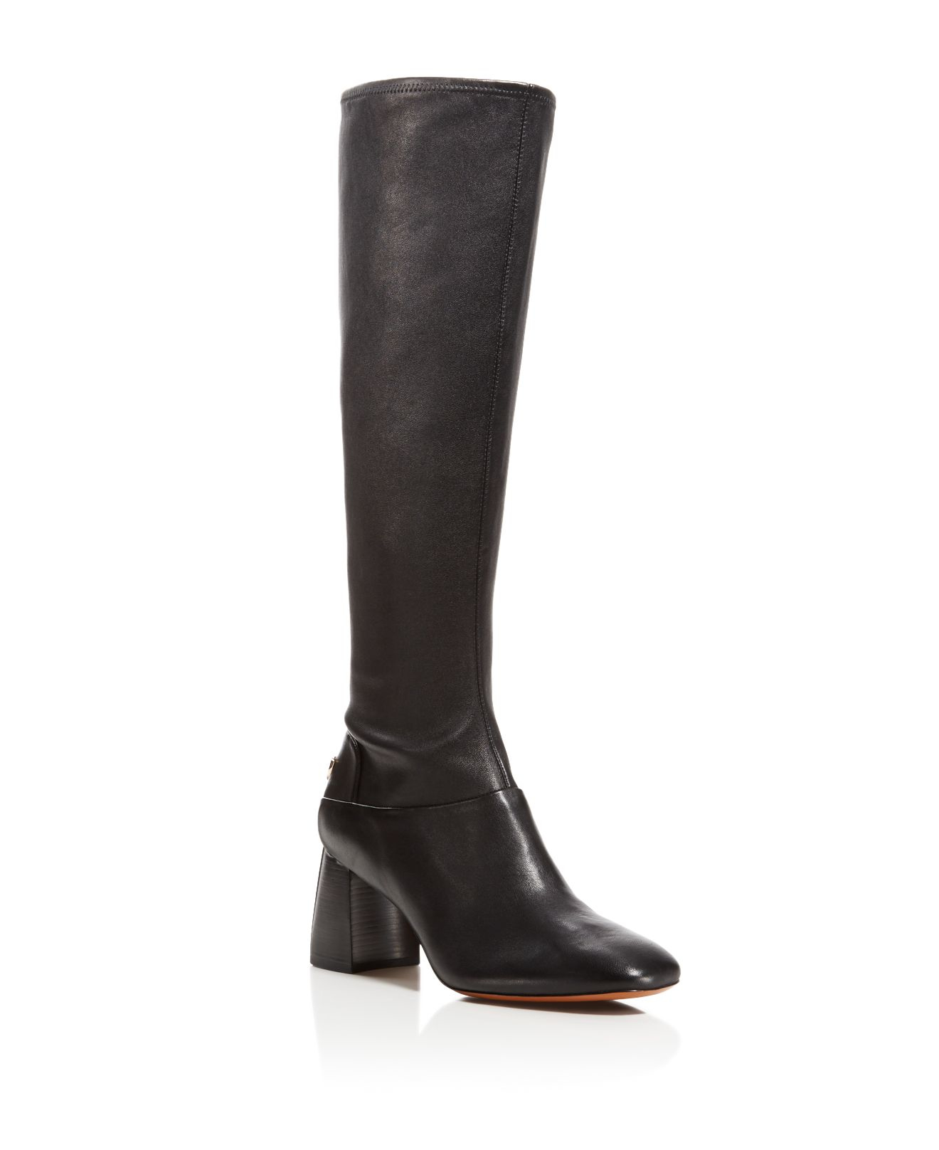 Tory Burch Sidney Block Heel Tall Boots In Black Lyst