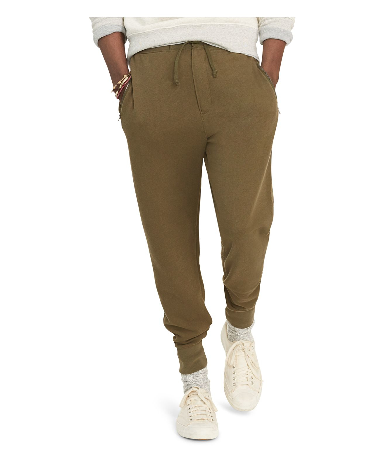 polo ralph lauren fleece jogger sweatpants in green for