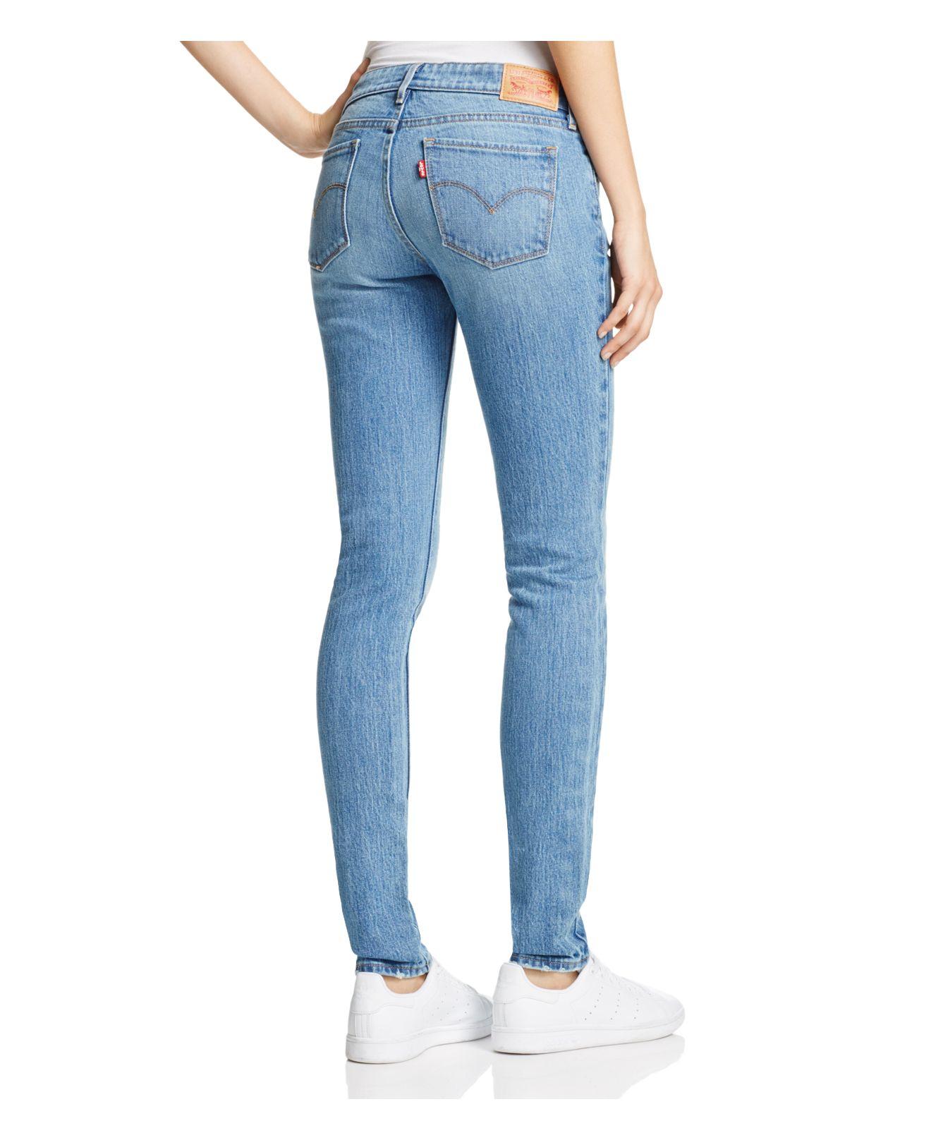 Levi's 711® Skinny Jeans In Goodbye Heart in Blue