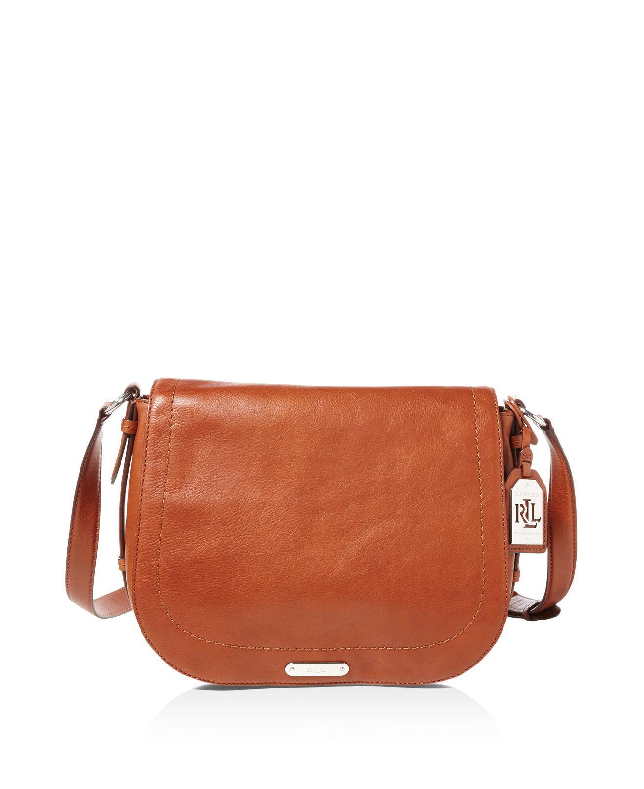 6a1603492d849 Lyst - Ralph Lauren Lauren Glenmore Larisa Saddle Bag in Brown