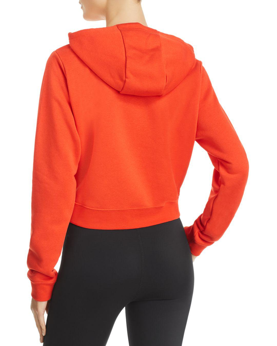 c809098d3400 Lyst - Nike Rally Cropped Hooded Sweatshirt in Red