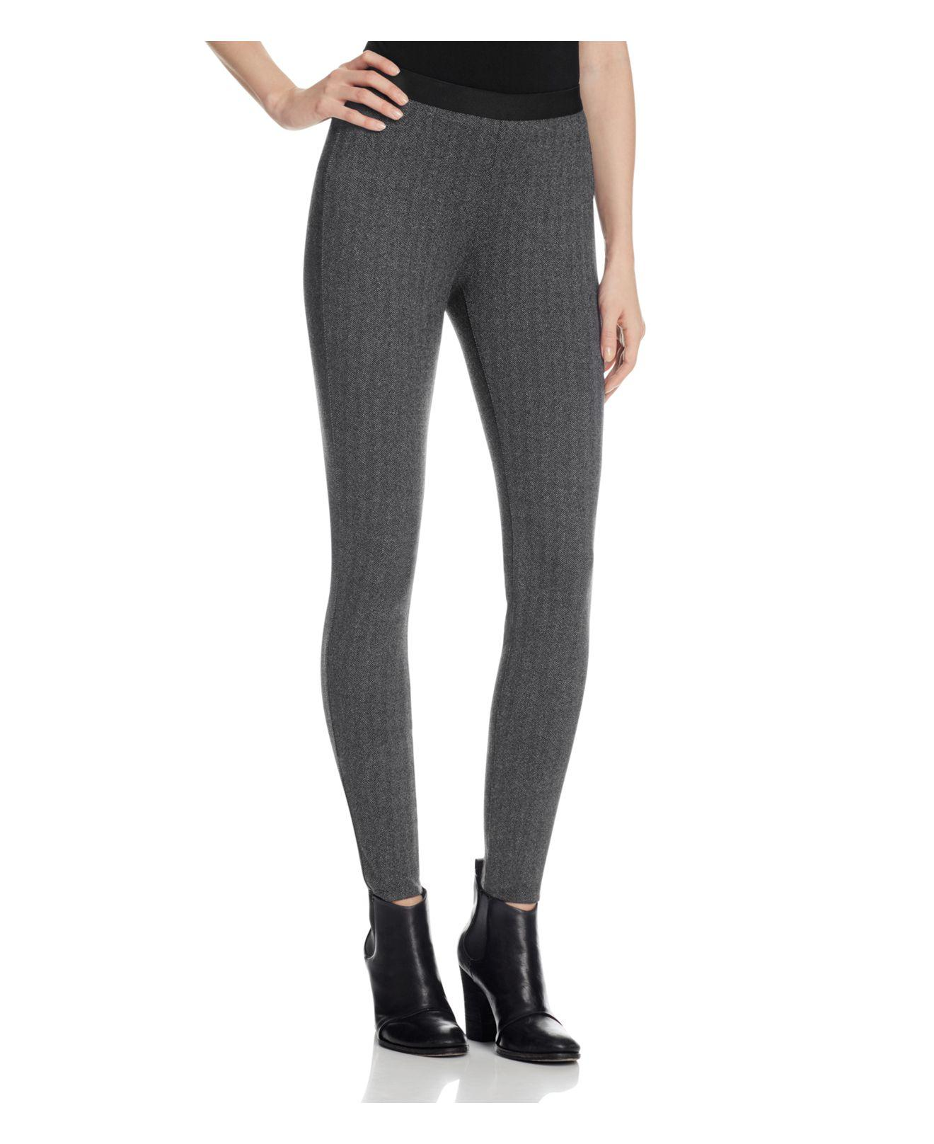 4854e4790f8 Lyst - Eileen Fisher Heathered Herringbone Leggings in Gray