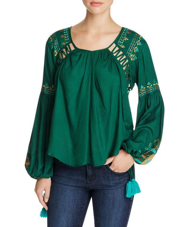 Green Peasant Blouse 95
