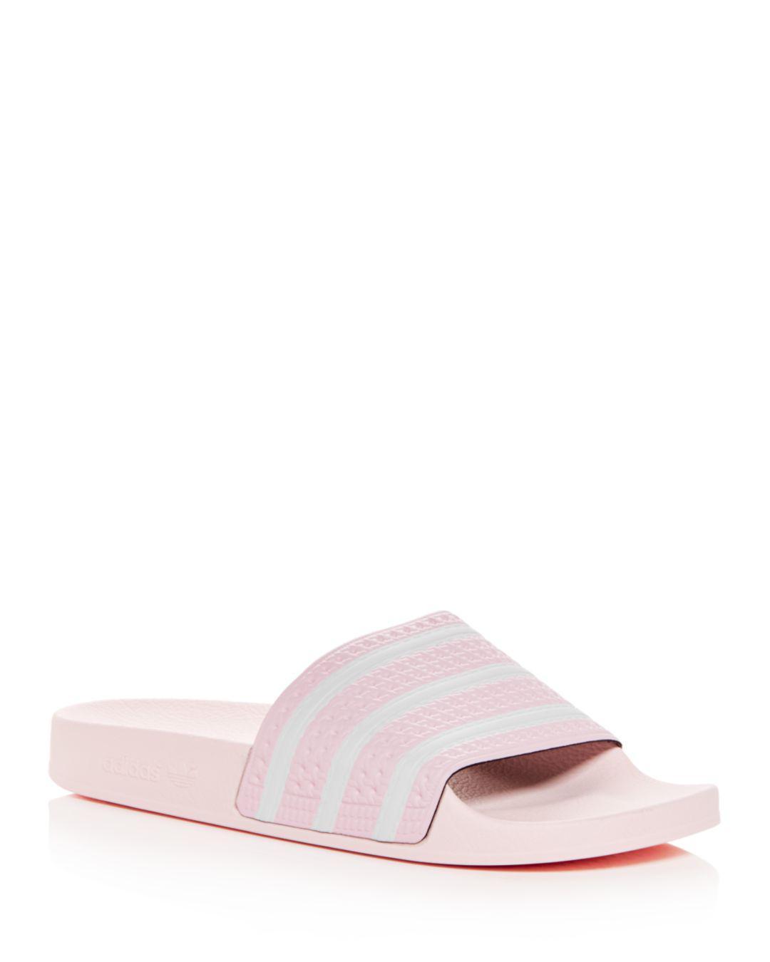 adidas Men s Adilette Slide Sandals in Pink for Men - Lyst 81d171221