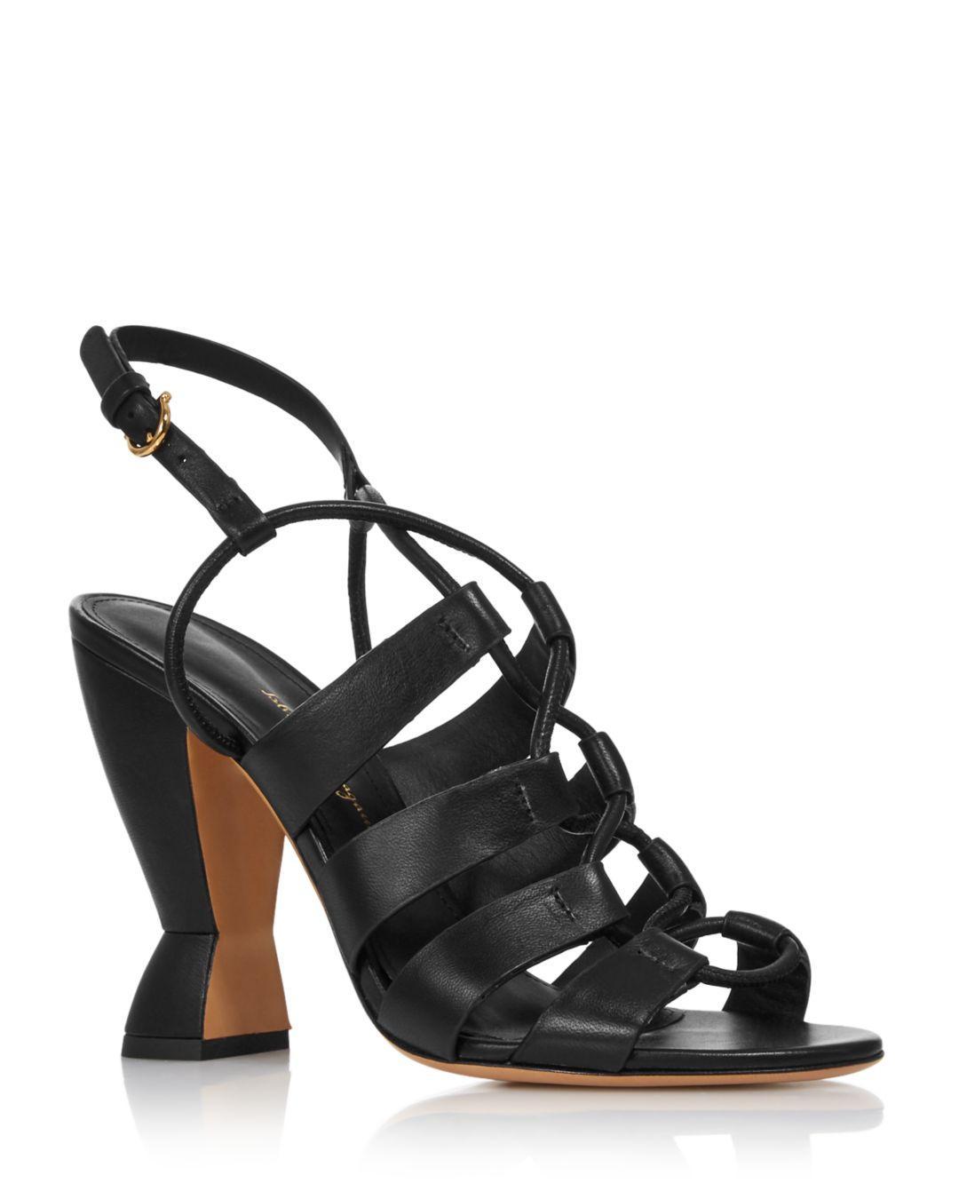 0f47dc46d306 Ferragamo. Black Women s Sirmio High-heel Leather Sandals