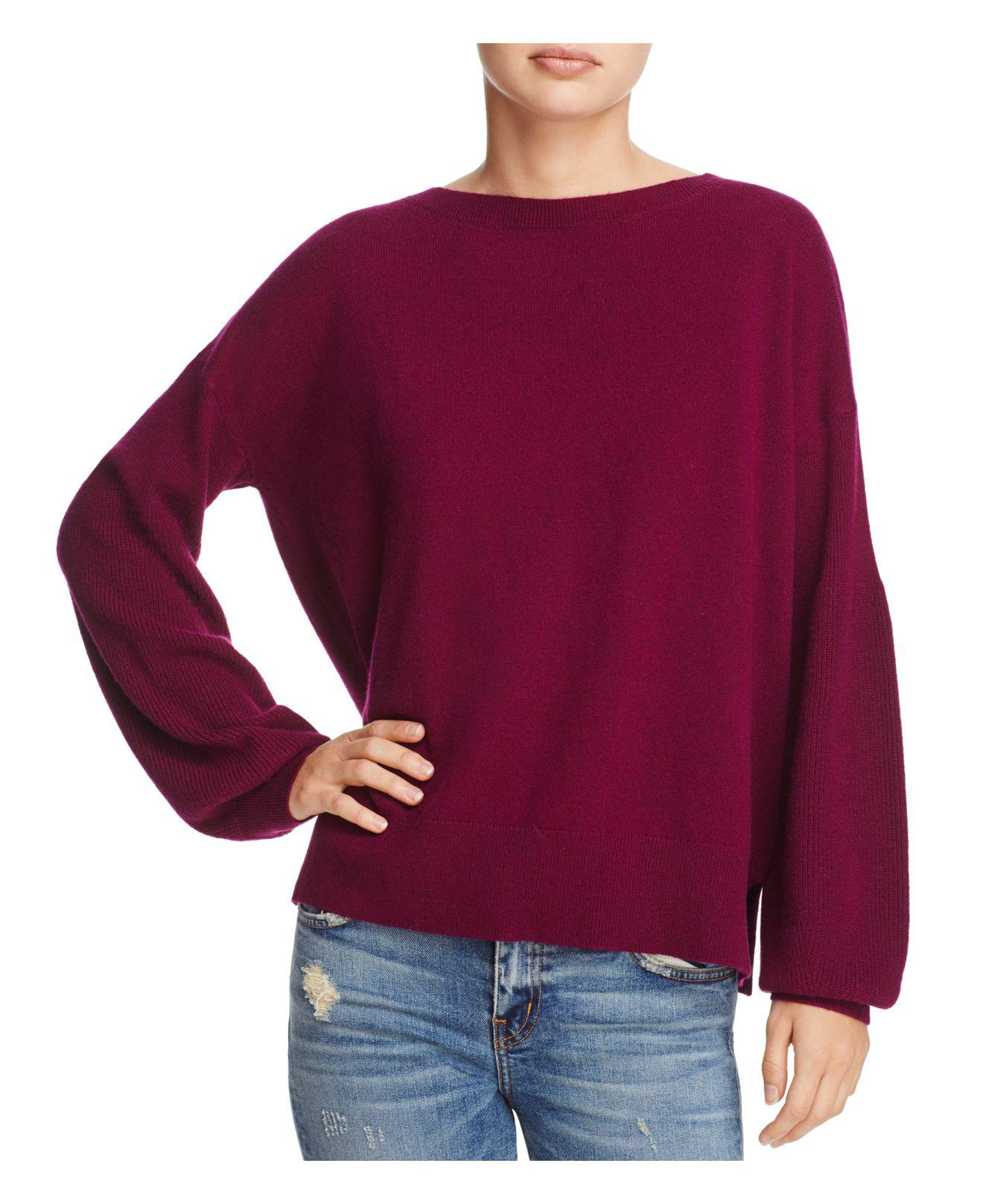 Theory Drop-shoulder Cashmere Sweater in Purple | Lyst
