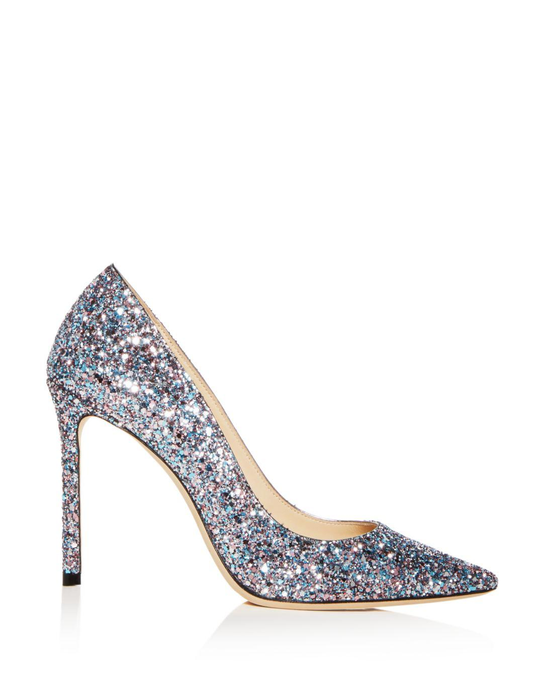 558439065d85 Jimmy Choo Women s Romy 100 Glitter Pointed-toe Pumps - Save  7.88091068301226% - Lyst