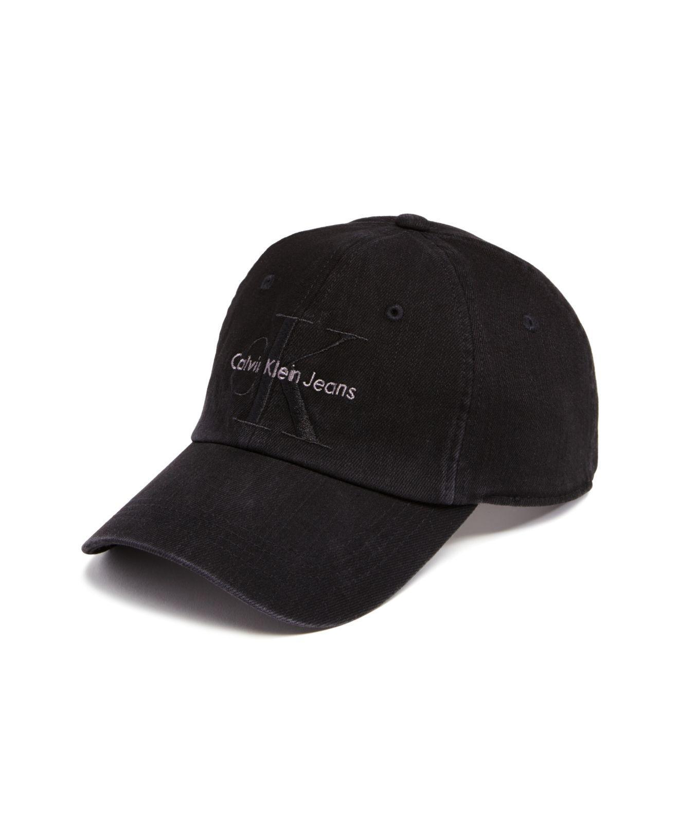 4b802239 Calvin Klein Unisex Denim Logo Baseball Cap Black One in Black for ...