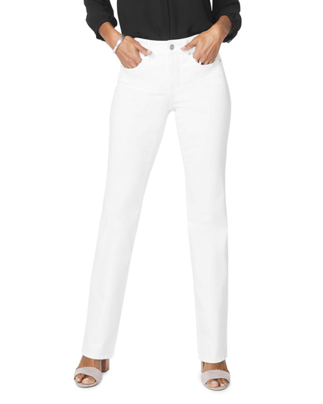 a02413aa8bd39 Lyst - Nydj Petites Barbara Bootcut Jeans In Optic White in White