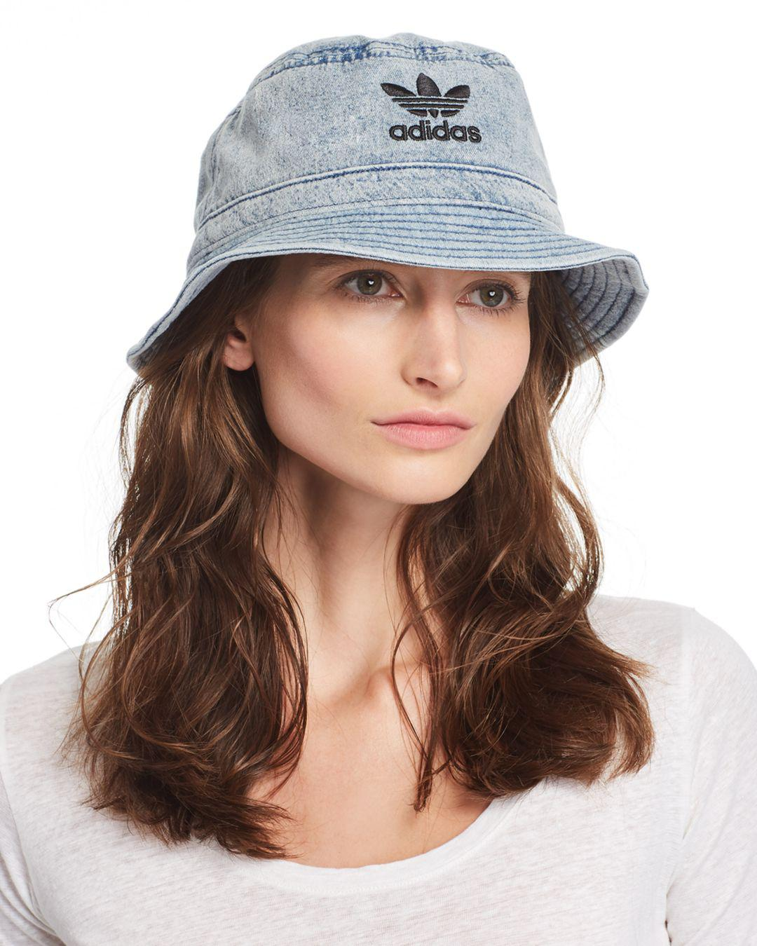 d817d871 adidas Originals Unisex Denim Bucket Hat in Blue - Lyst