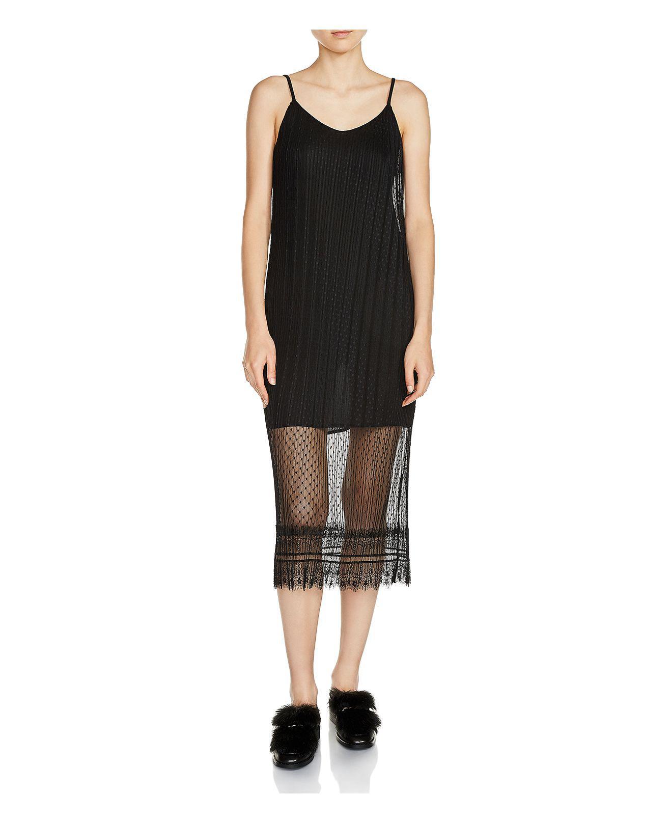 Lyst Maje Raelys Lace Midi Dress In Black