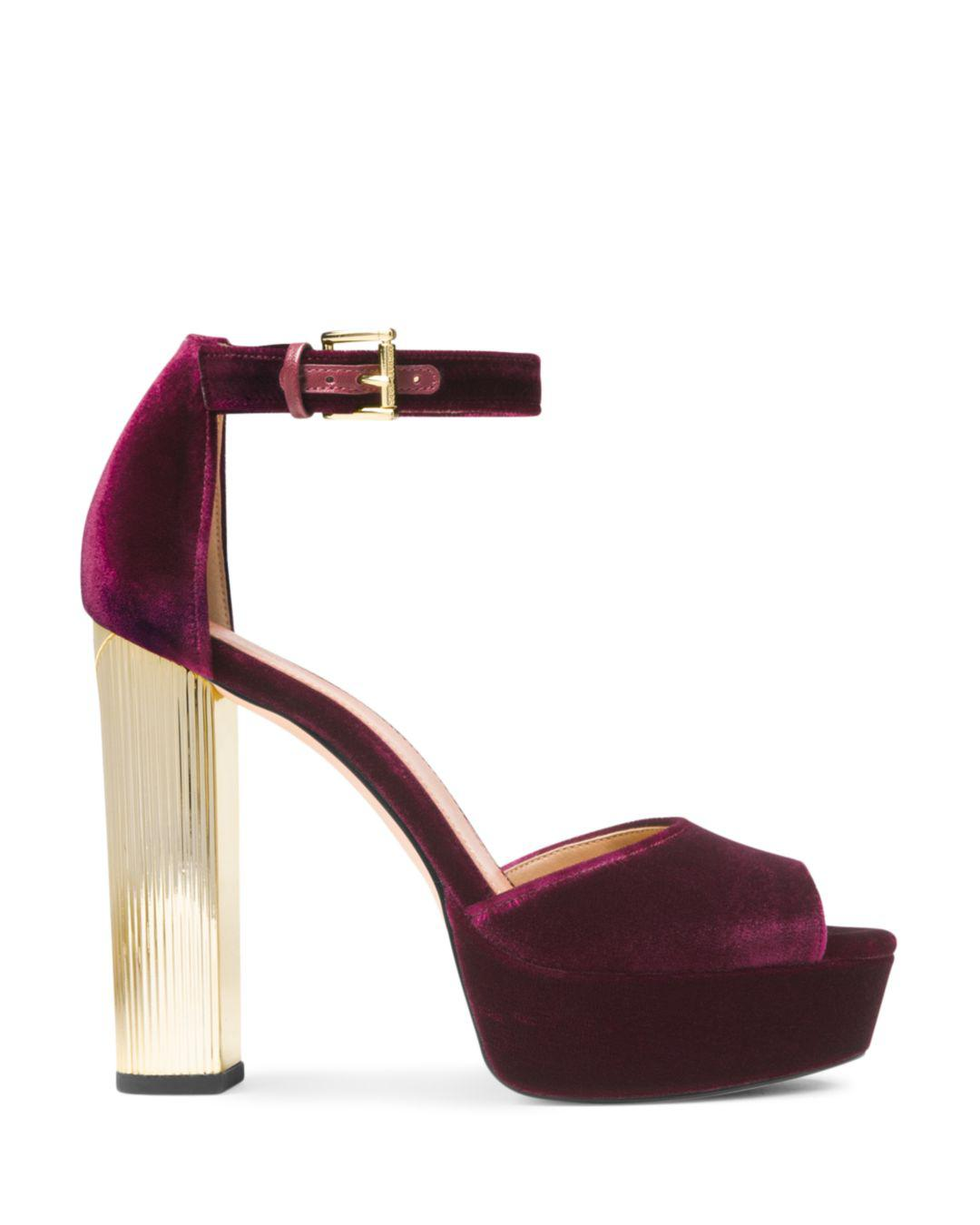 5c3e2b8a339 MICHAEL Michael Kors Women s Paloma Platform Sandals in Purple - Lyst