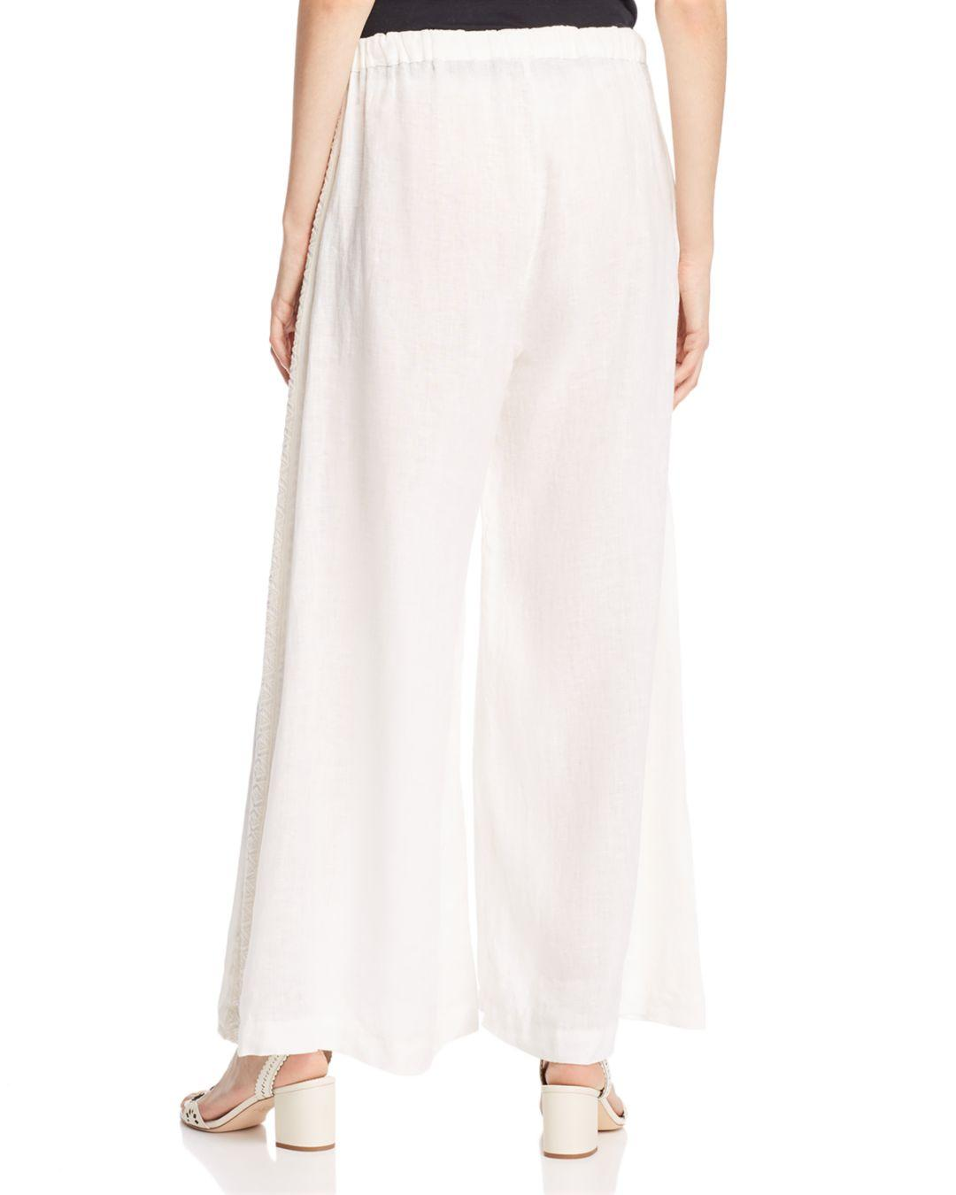 6d8ab3c7be5 Johnny Was Poa Wide-leg Linen Pants in White - Lyst