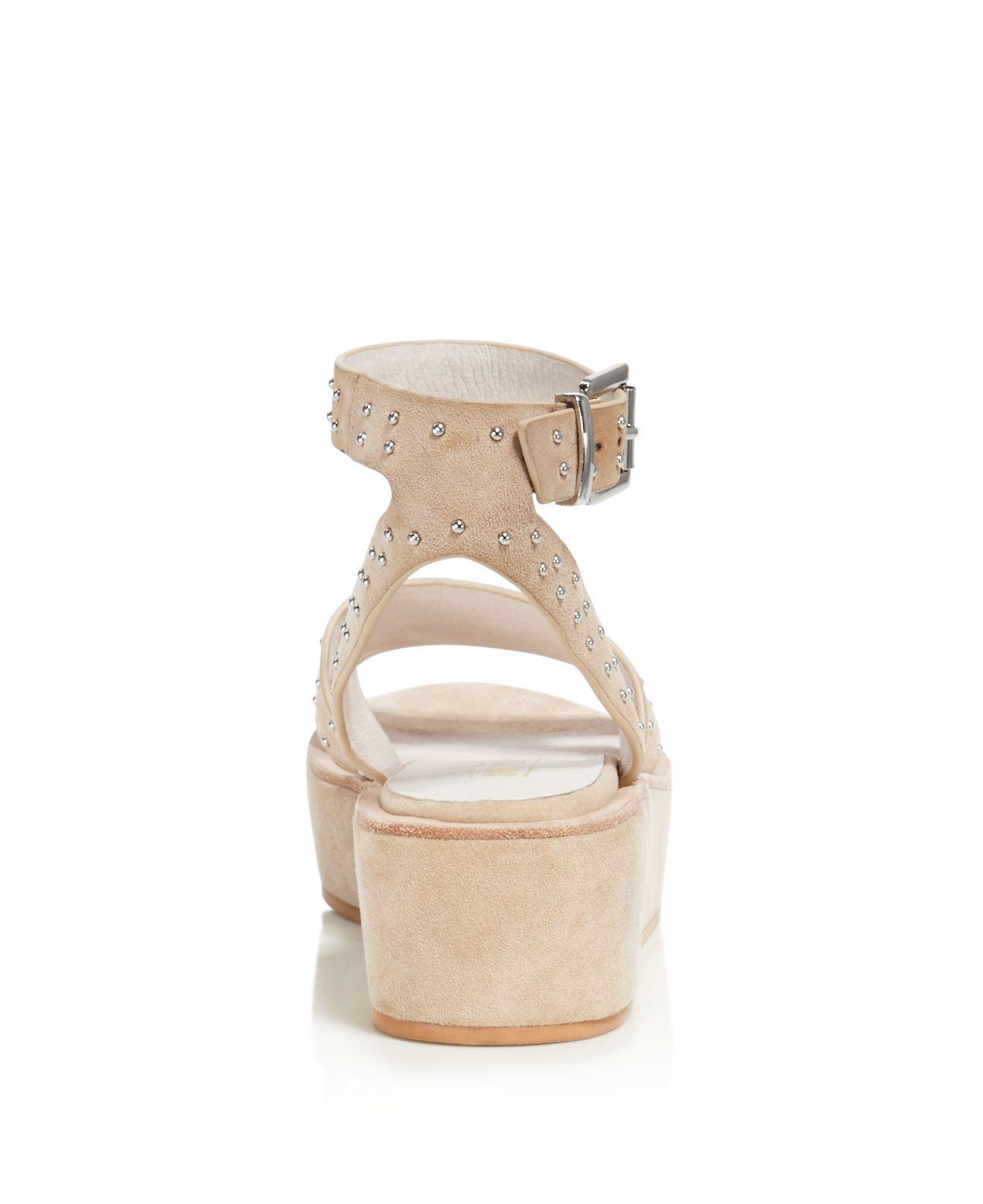Sol Sana Women's Penelope Studded Suede Platform Ankle Strap Sandals BFZPUch