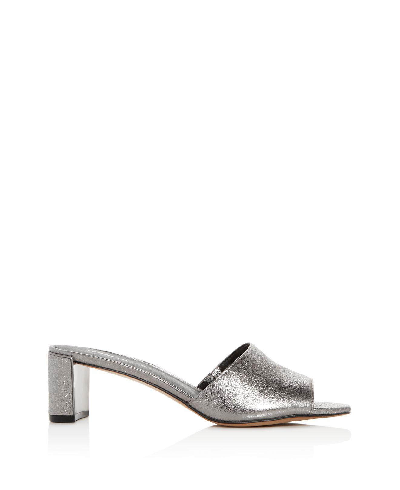 Kenneth Cole Women's Nash Studded Leather Mid-Heel Slide Sandals jdVPVedK