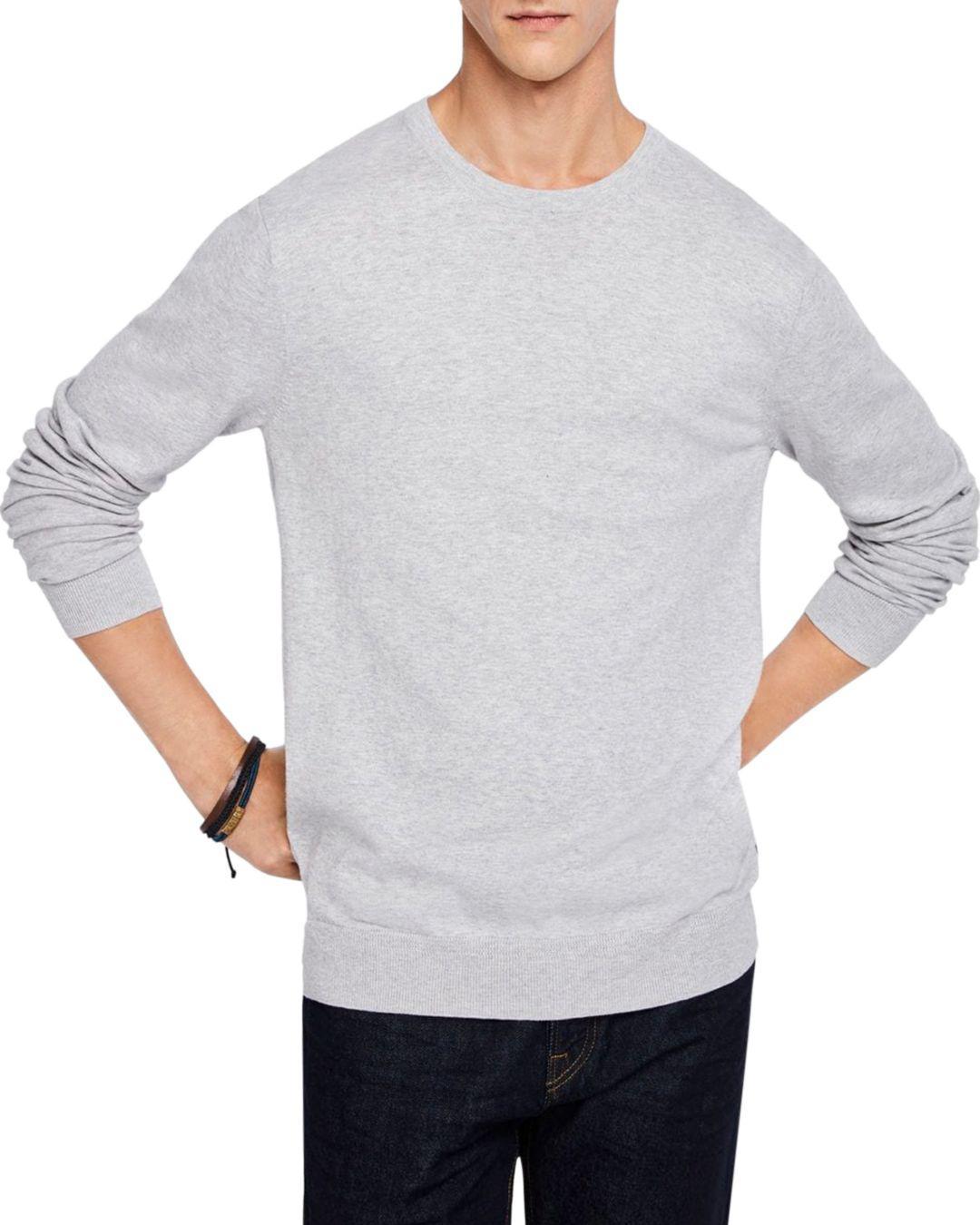 c0d1aca70 Lyst - Scotch & Soda Crewneck Sweater in Gray for Men