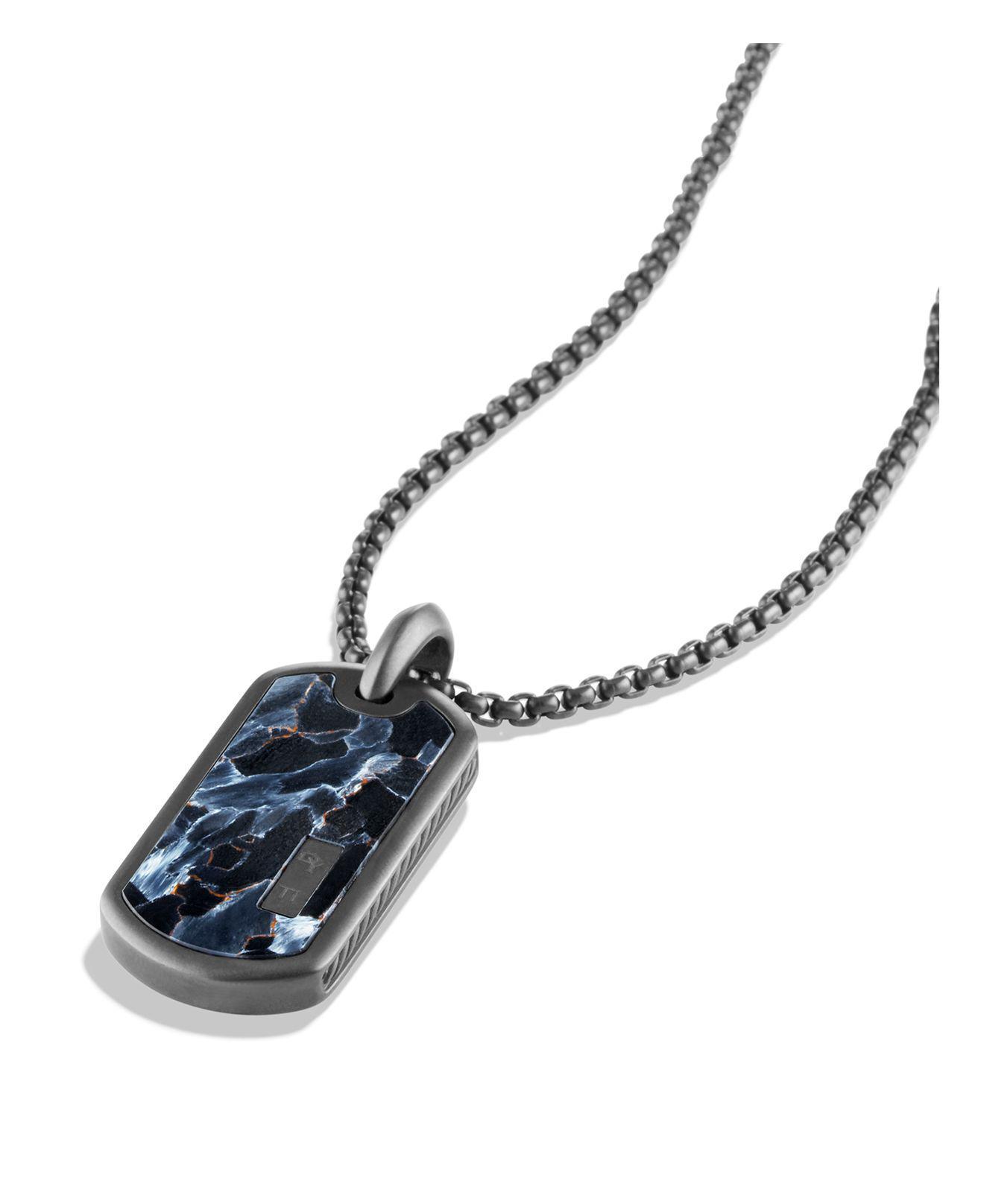 David Yurman Exotic Stone Enhancer pietersite tag - Black iopwtvYWPW