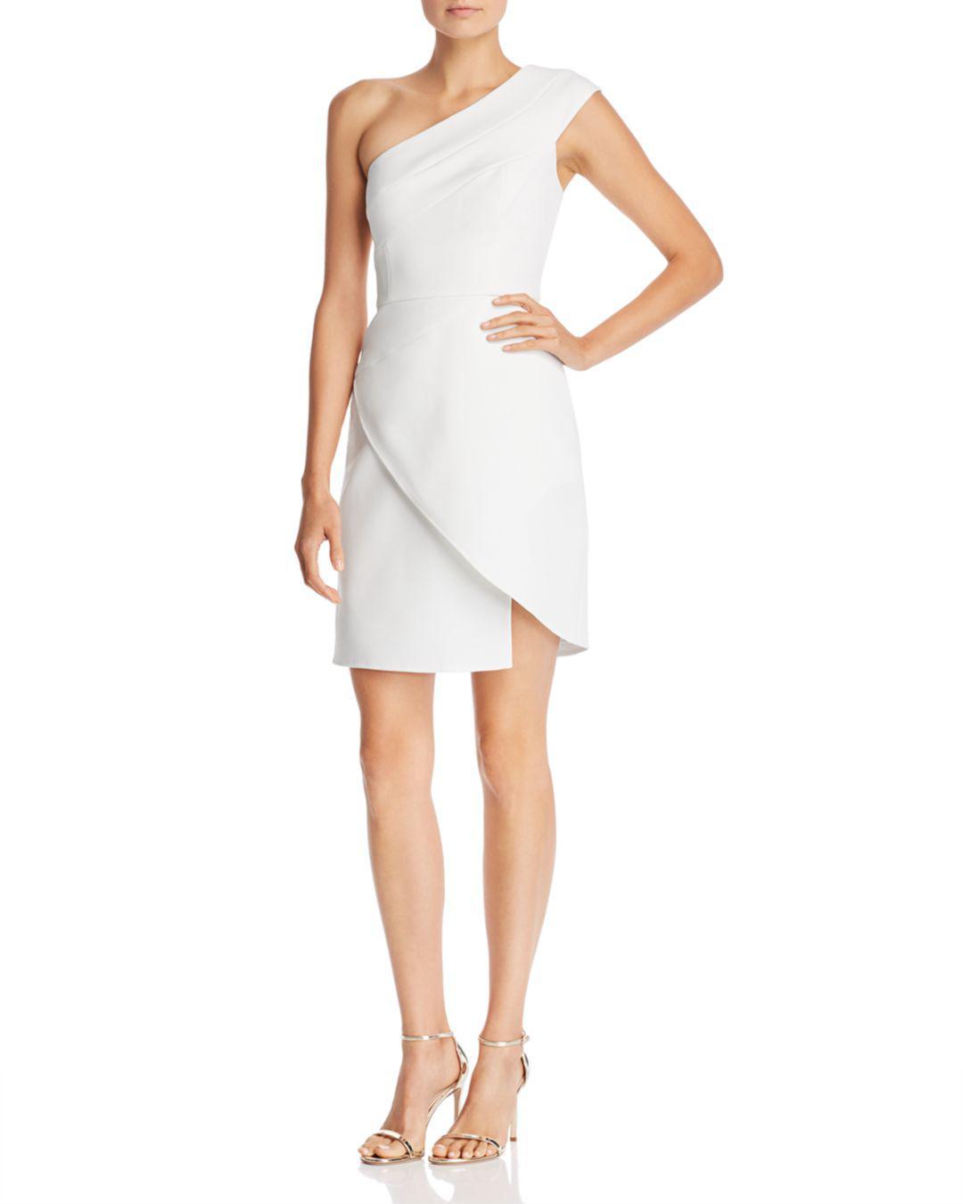 005df355bfd BCBGMAXAZRIA Aryanna One-shoulder Cocktail Dress in White - Lyst
