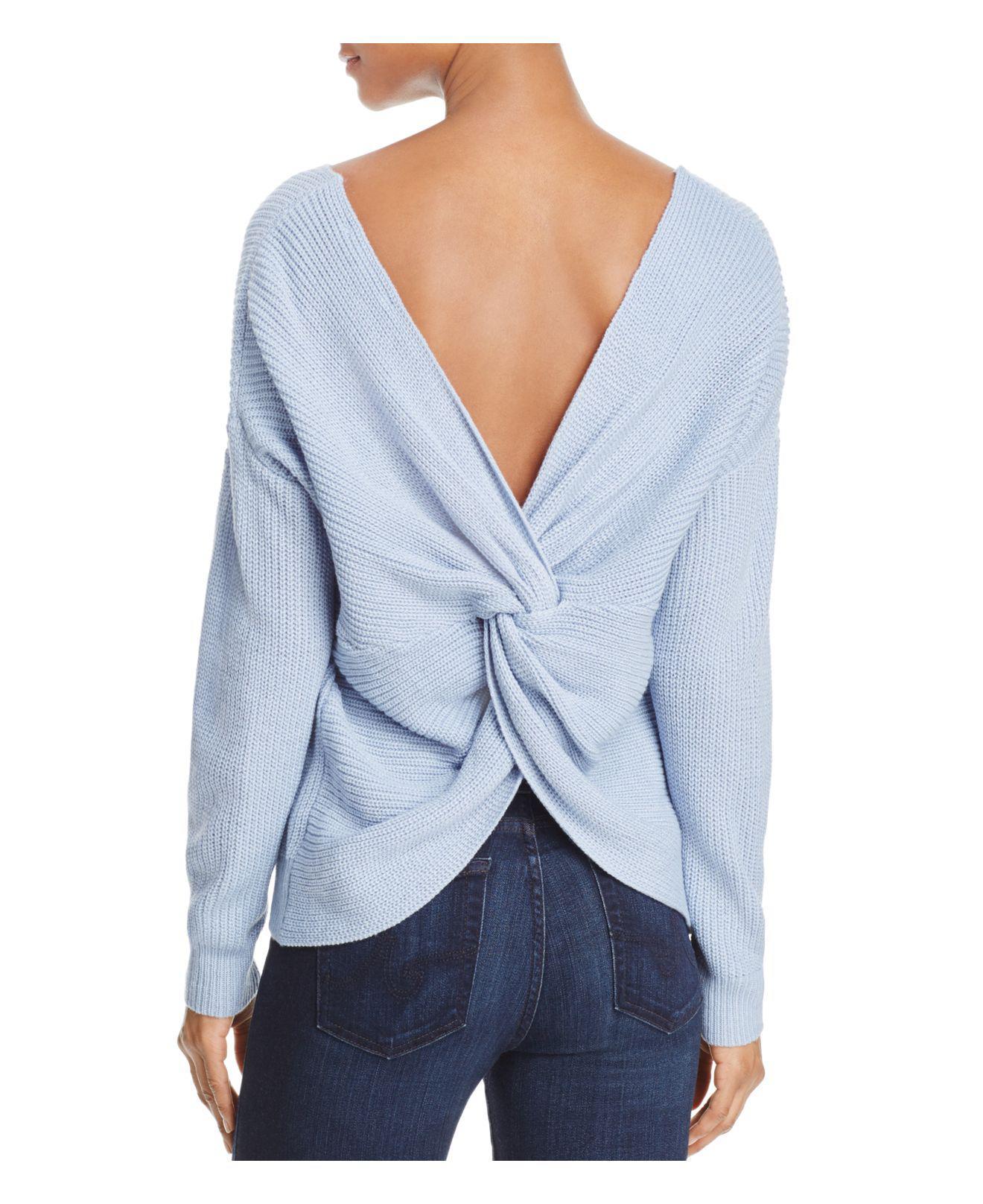 Lyst - Endless Rose Twist Back Sweater in Blue 55efa5a85