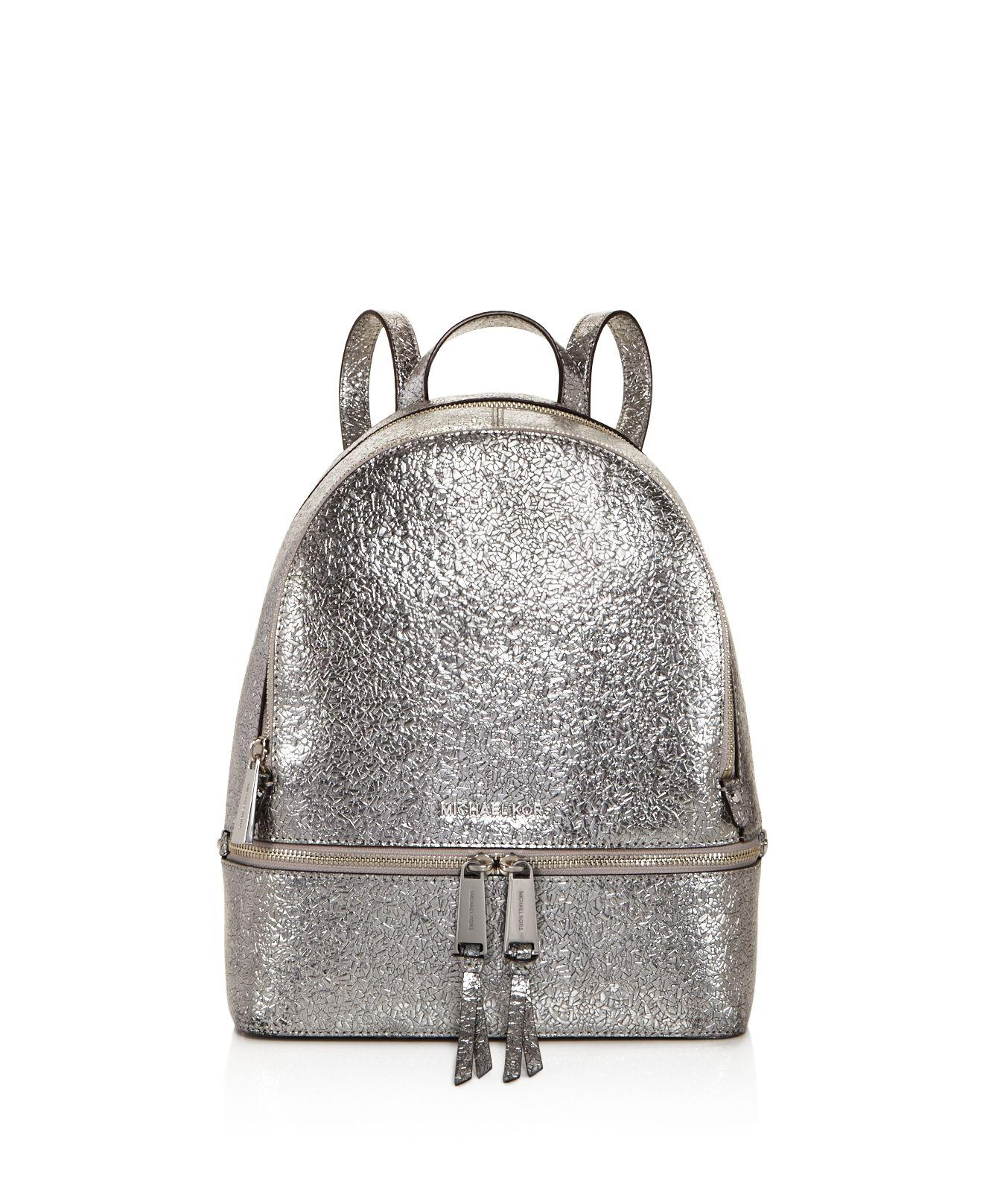 0515bff03c82 MICHAEL Michael Kors Rhea Zip Metallic Medium Leather Backpack in ...