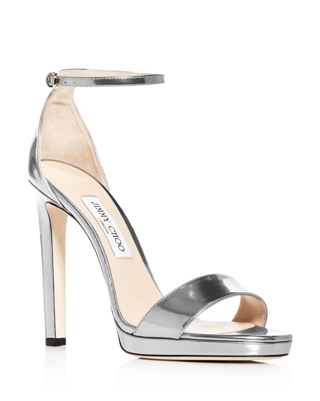 27c2a0c6fb8 Lyst - Jimmy Choo Women s Misty 120 Ankle Strap High-heel Sandals in ...