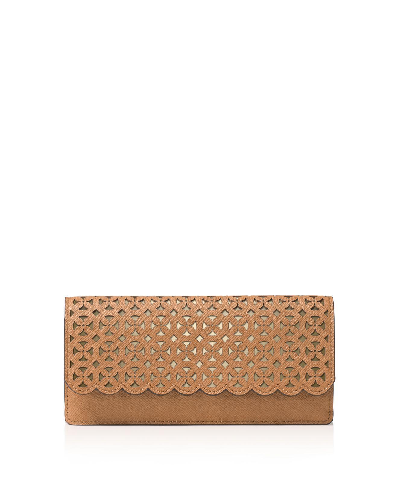 a1d67b7dbdad Lyst - MICHAEL Michael Kors Desi Flat Saffiano Leather Wallet in ...