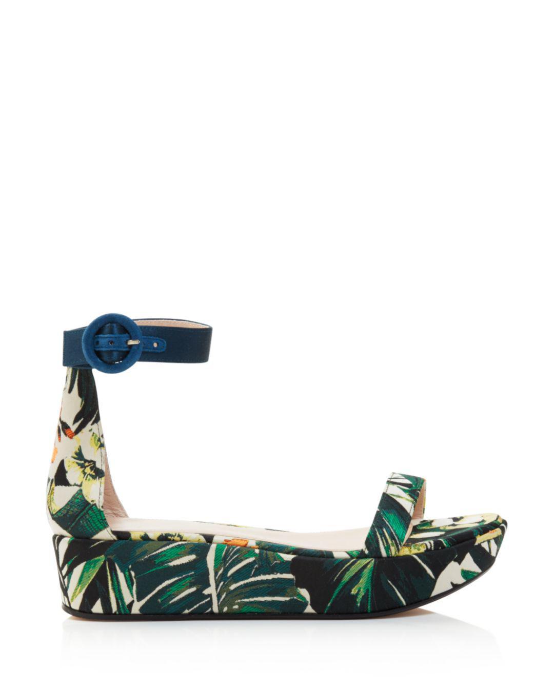 3ff7ecaa9b6 Lyst - Stuart Weitzman Women s Capri Printed Jacquard Platform Ankle ...