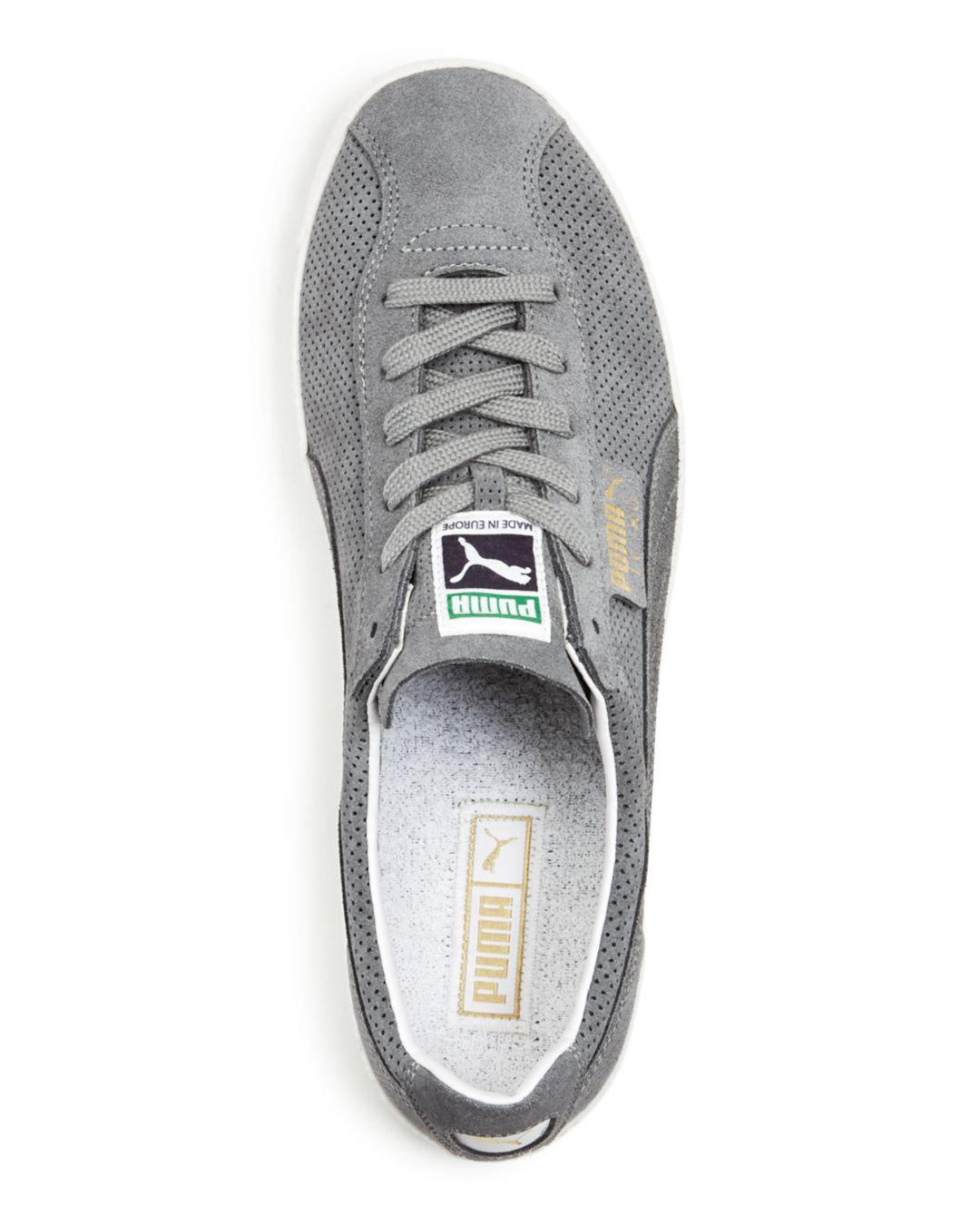 e2707622d0e Lyst - PUMA Men s Te-ku Summer Perforated Suede Lace Up Sneakers in Gray  for Men