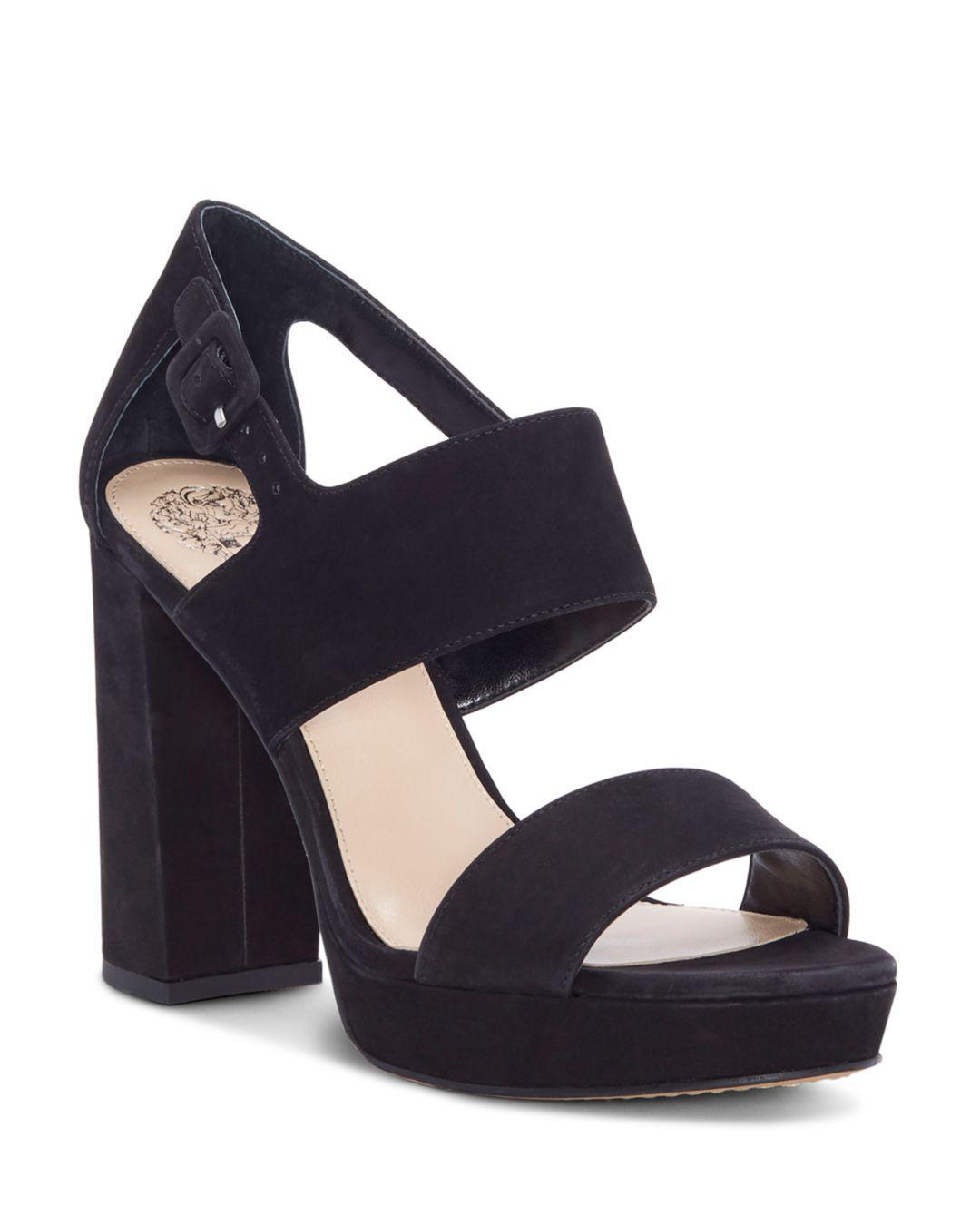 bd200c196b1 Lyst - Vince Camuto Women s Jayvid Suede Platform Sandals in Black ...