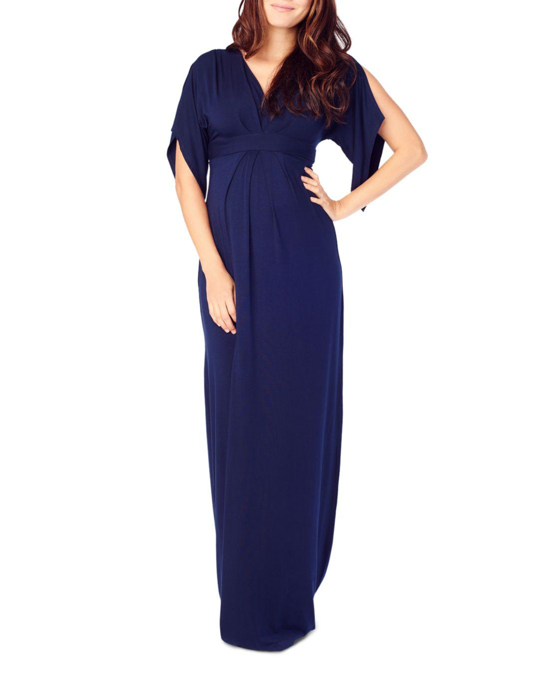 97f9ac6769c1e Ingrid & Isabel Split Kimono Sleeve Maternity Maxi Dress in Blue - Lyst