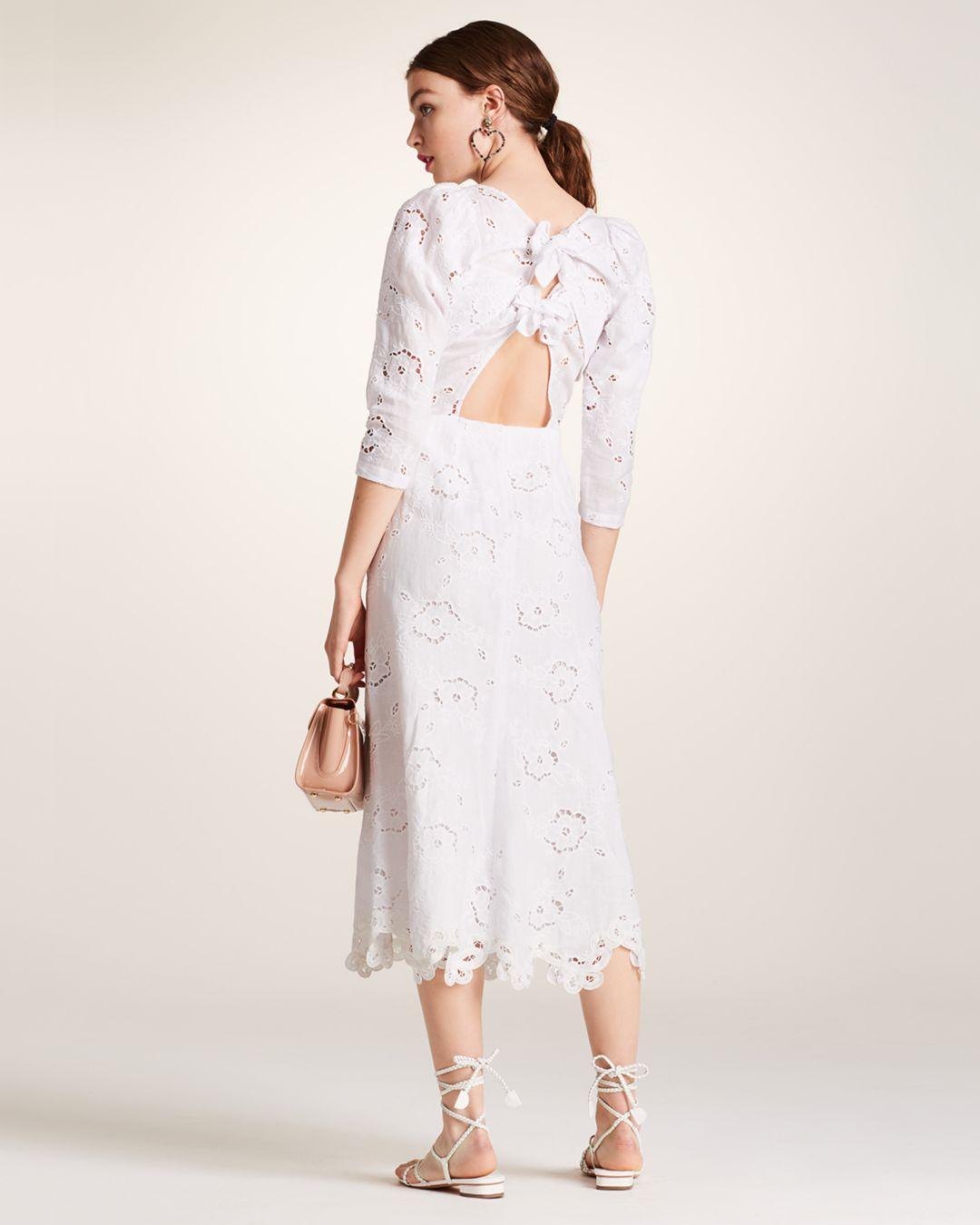 67215755f3e Rebecca Taylor Terri Embroidered V-neck Dress - Lyst